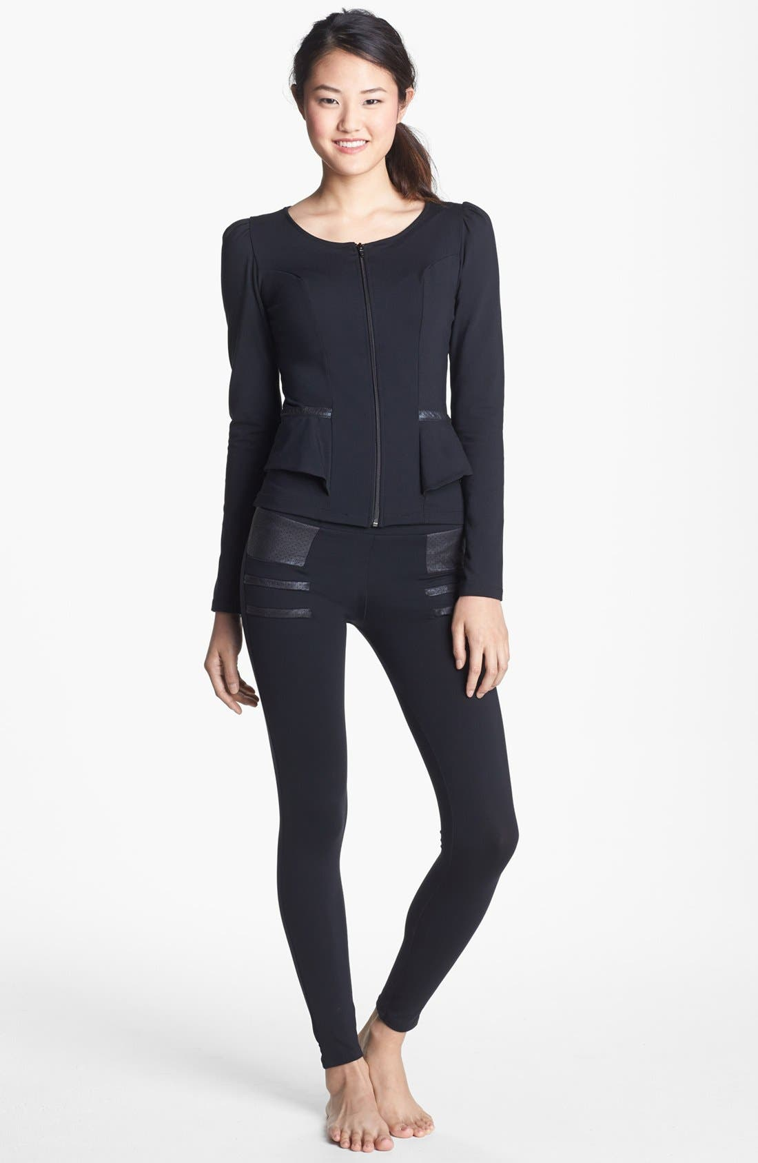Alternate Image 3  - Solow Faux Leather Trim Jacket