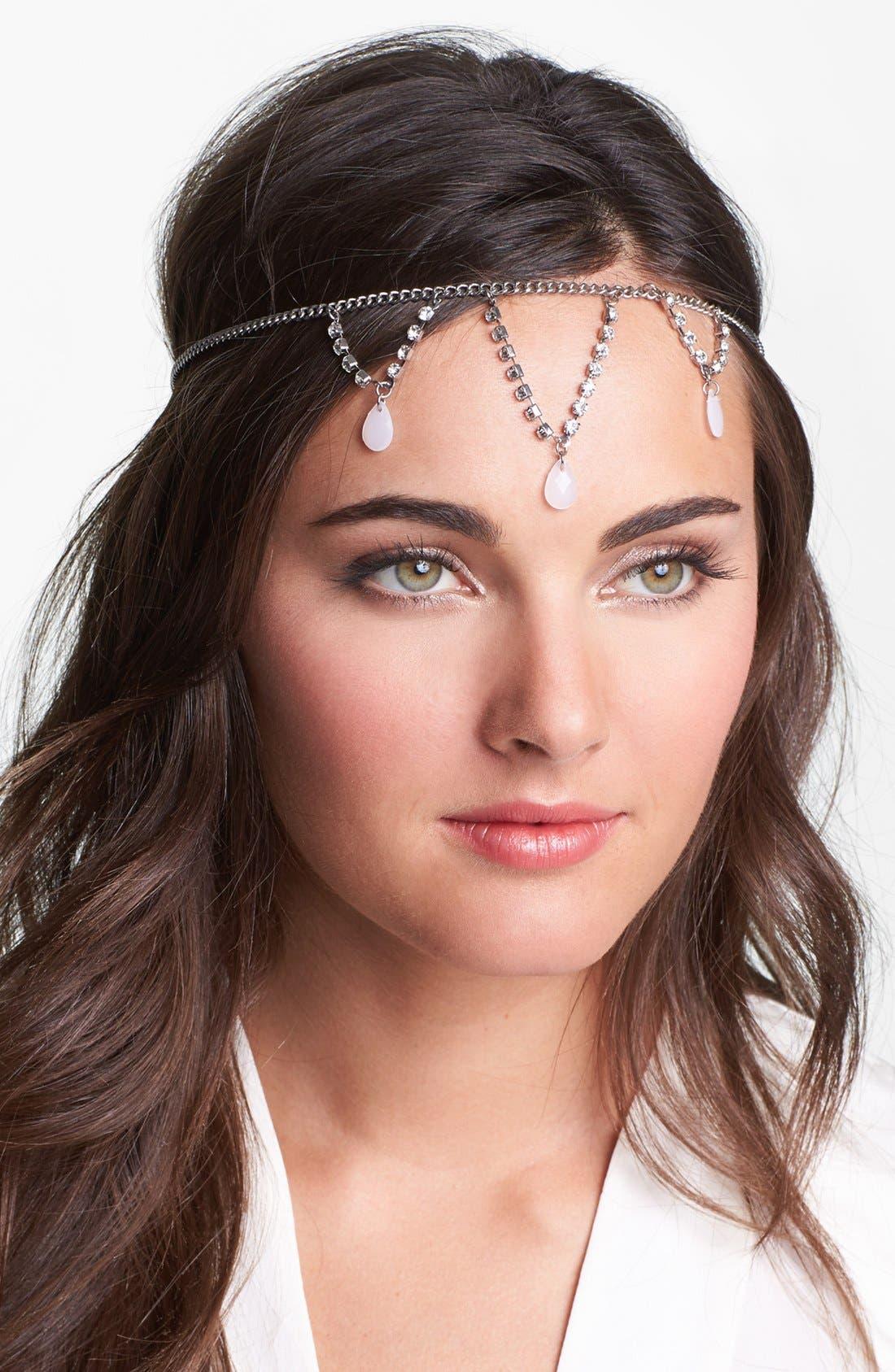 Main Image - Berry 'Goddess' Head Wrap
