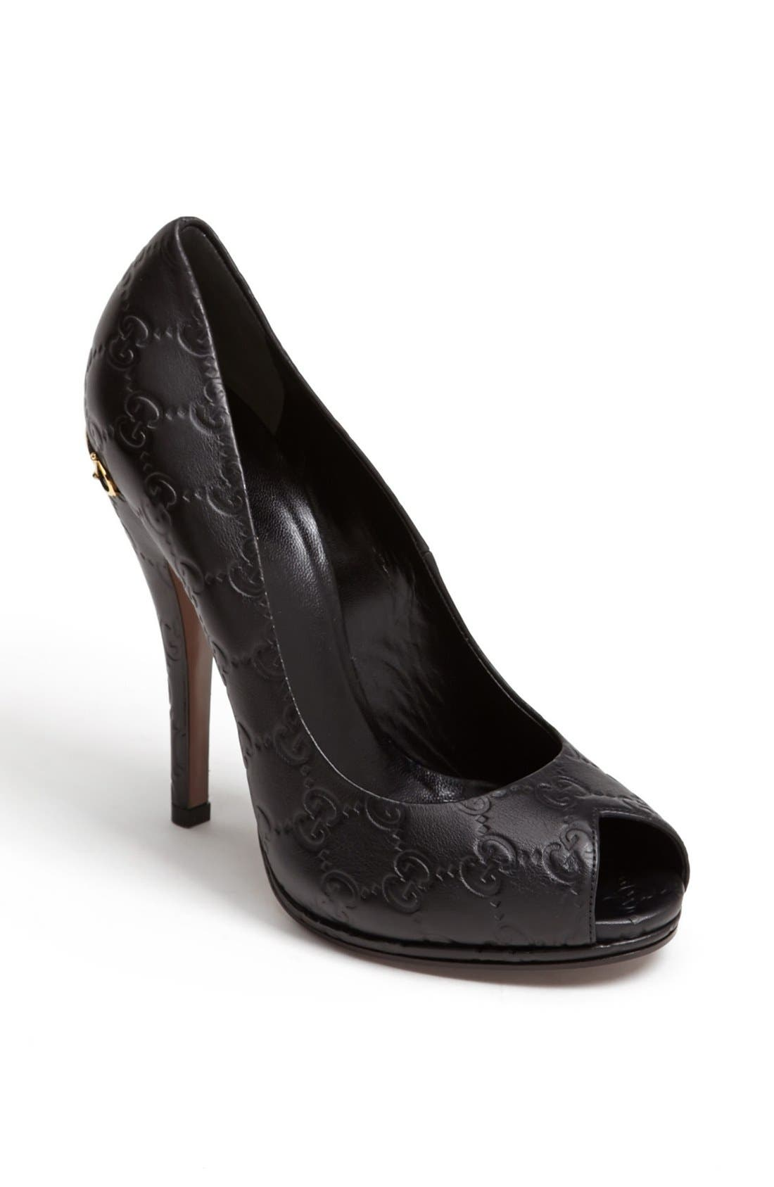 Alternate Image 1 Selected - Gucci 'Elizabeth' Peep Toe Pump
