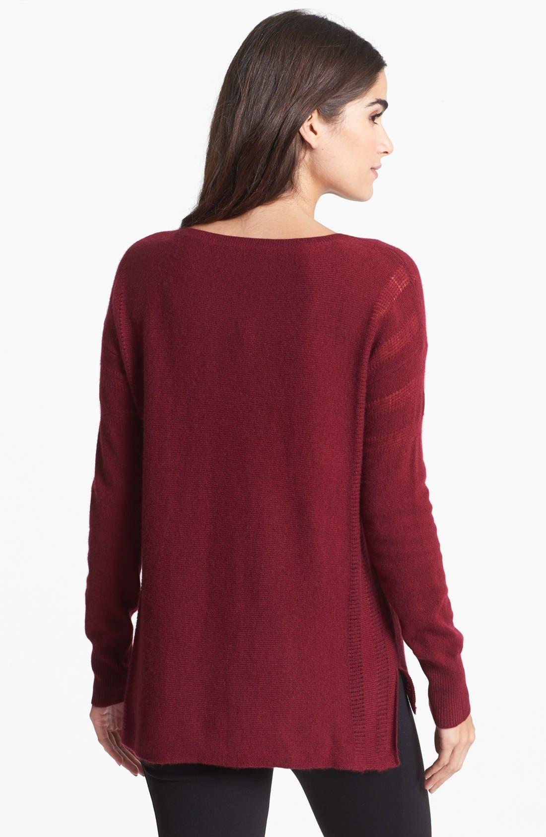 Alternate Image 2  - White + Warren V-Neck Cashmere Sweater