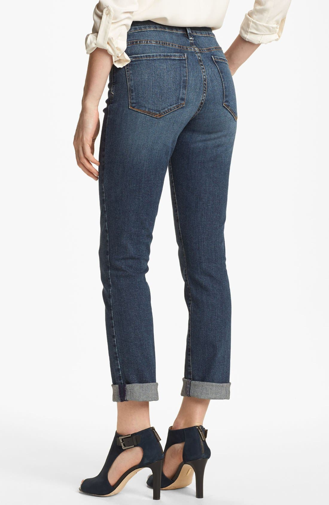 Alternate Image 2  - NYDJ 'Leann' Stretch Skinny Boyfriend Jeans (Petite)