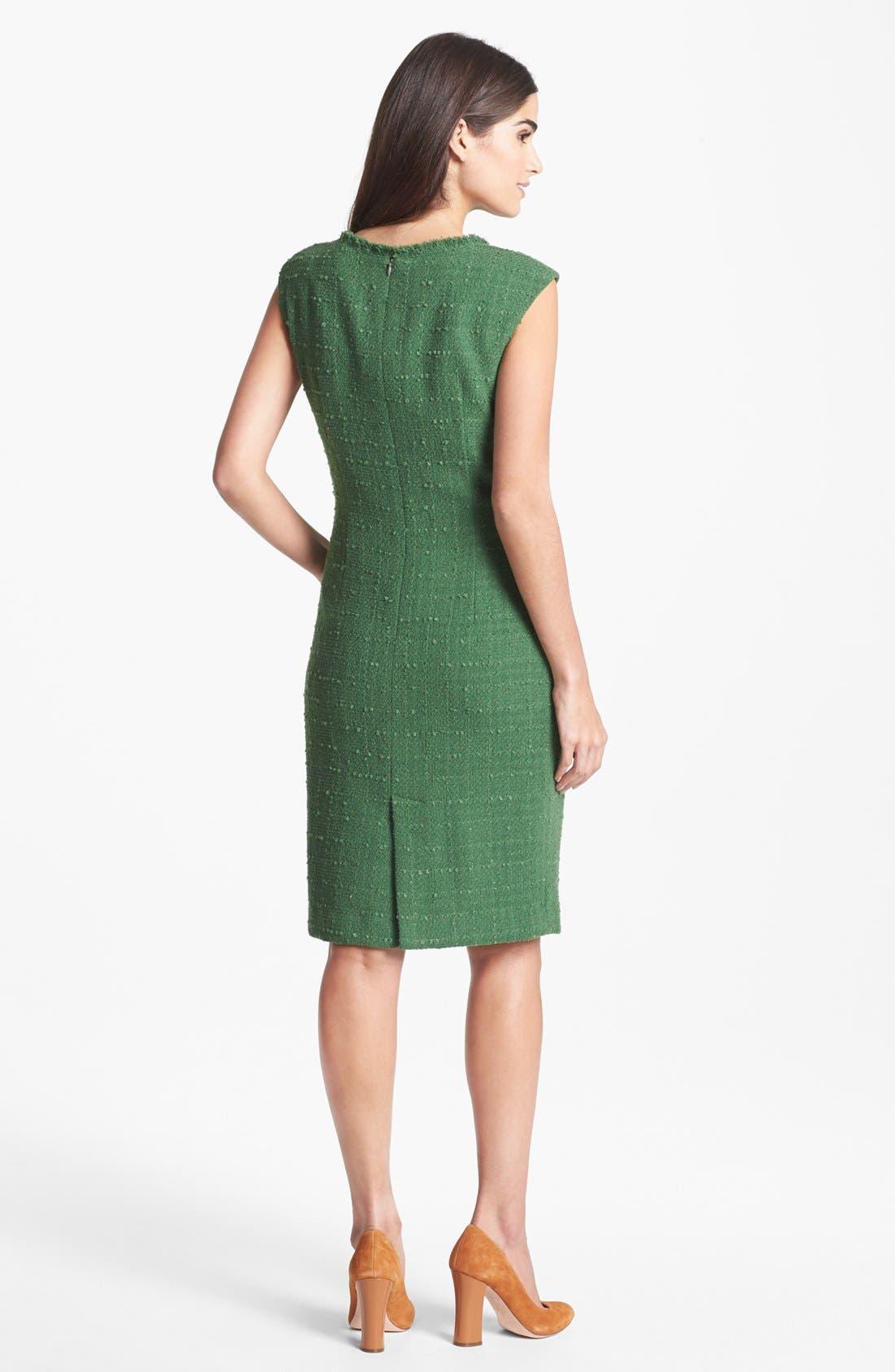 Alternate Image 2  - Santorelli Tweed Sheath Dress