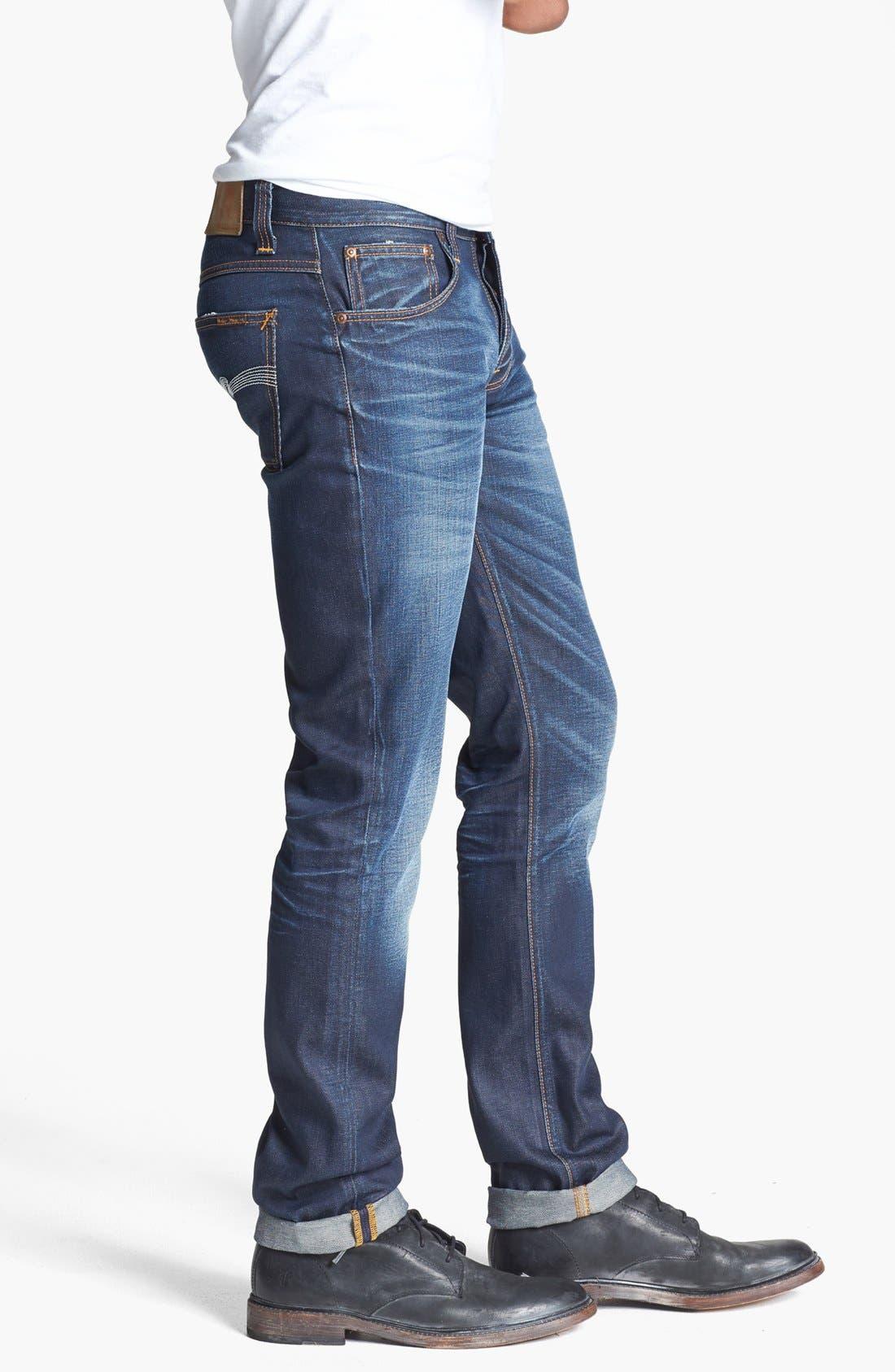 Alternate Image 3  - Nudie Jeans 'Grim Tim' Skinny Fit Jeans (Organic Steely Blue)