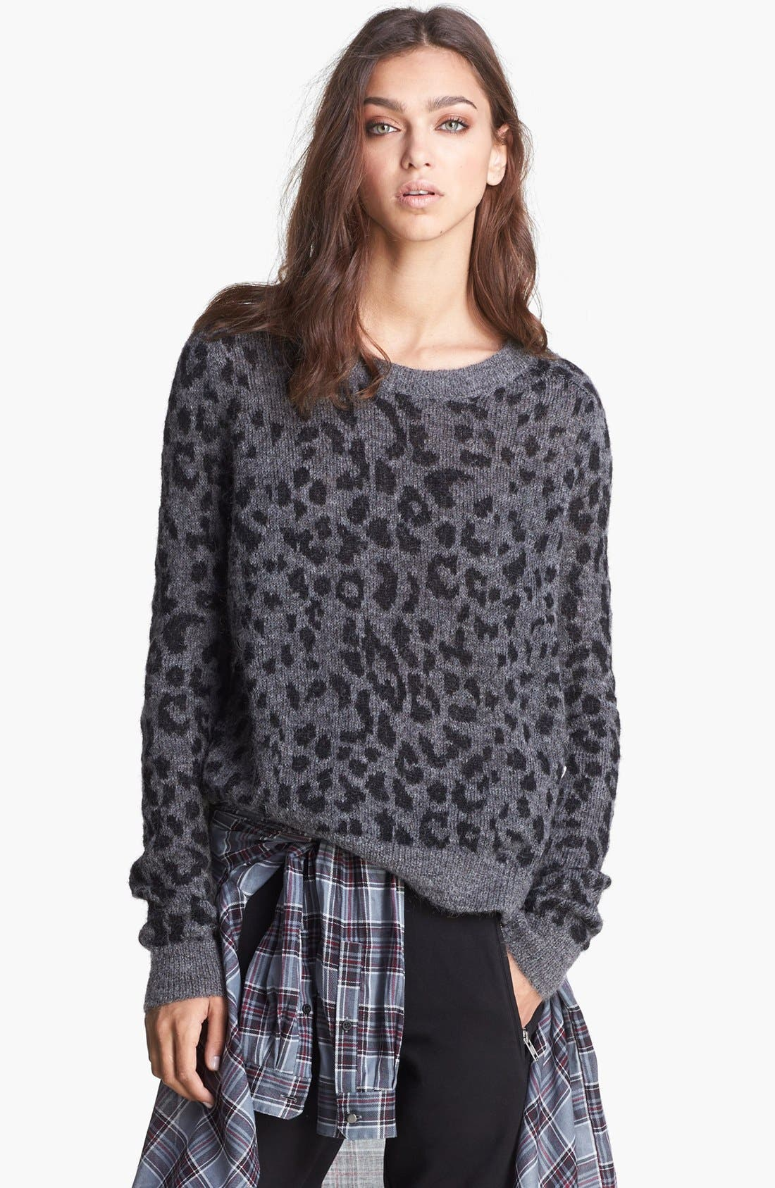 Alternate Image 1 Selected - The Kooples Leopard Pattern Sweater
