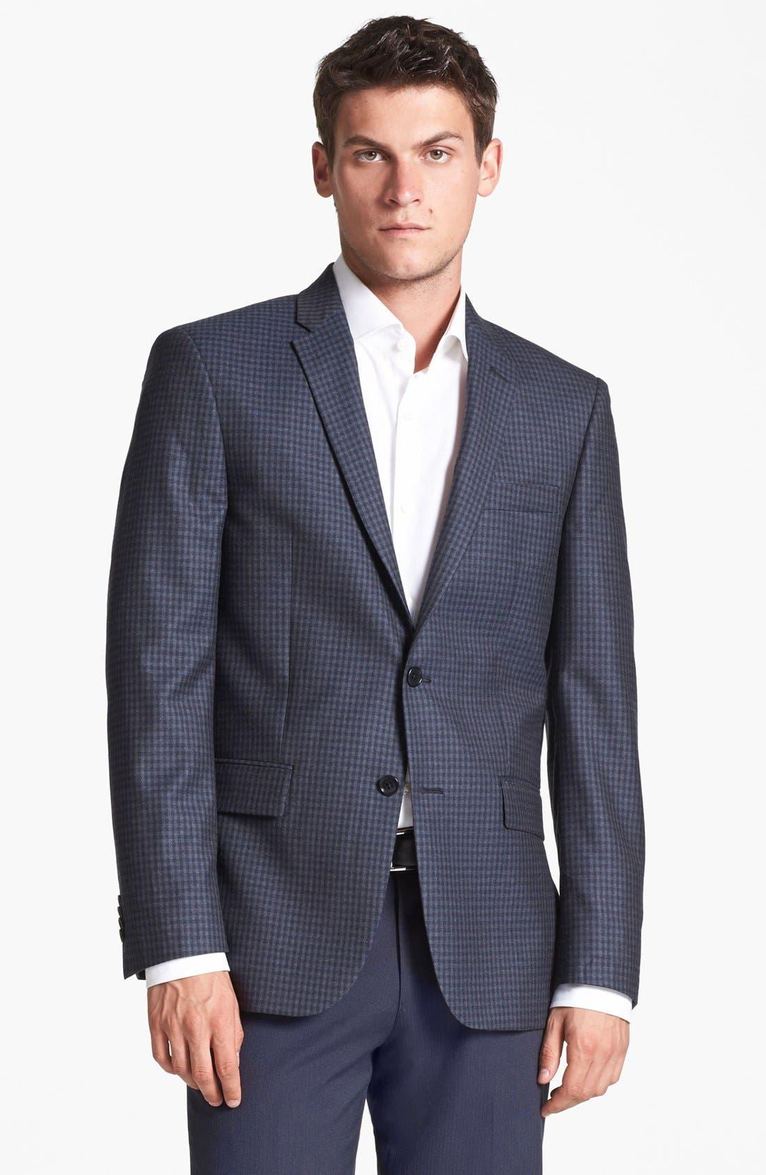 Main Image - John Varvatos Star USA 'Townshend' Trim Fit Check Sportcoat