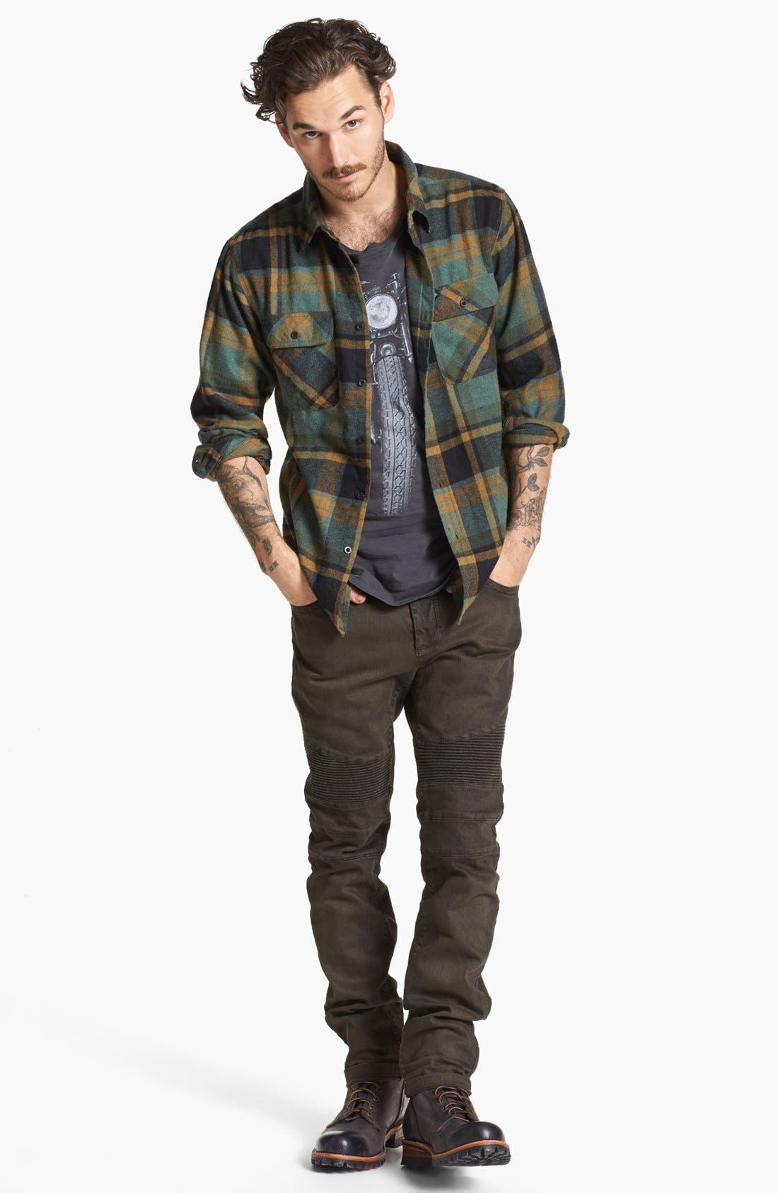 Alternate Image 4  - Brixton 'Bowery' Plaid Flannel Shirt