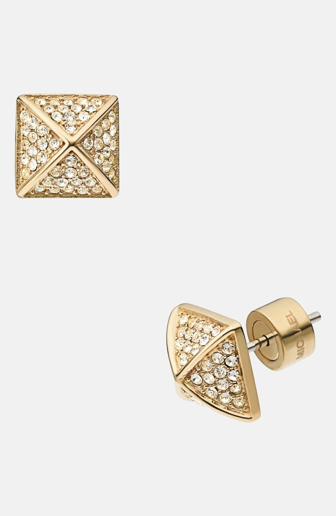 Main Image - Michael Kors Pavé Pyramid Stud Earrings