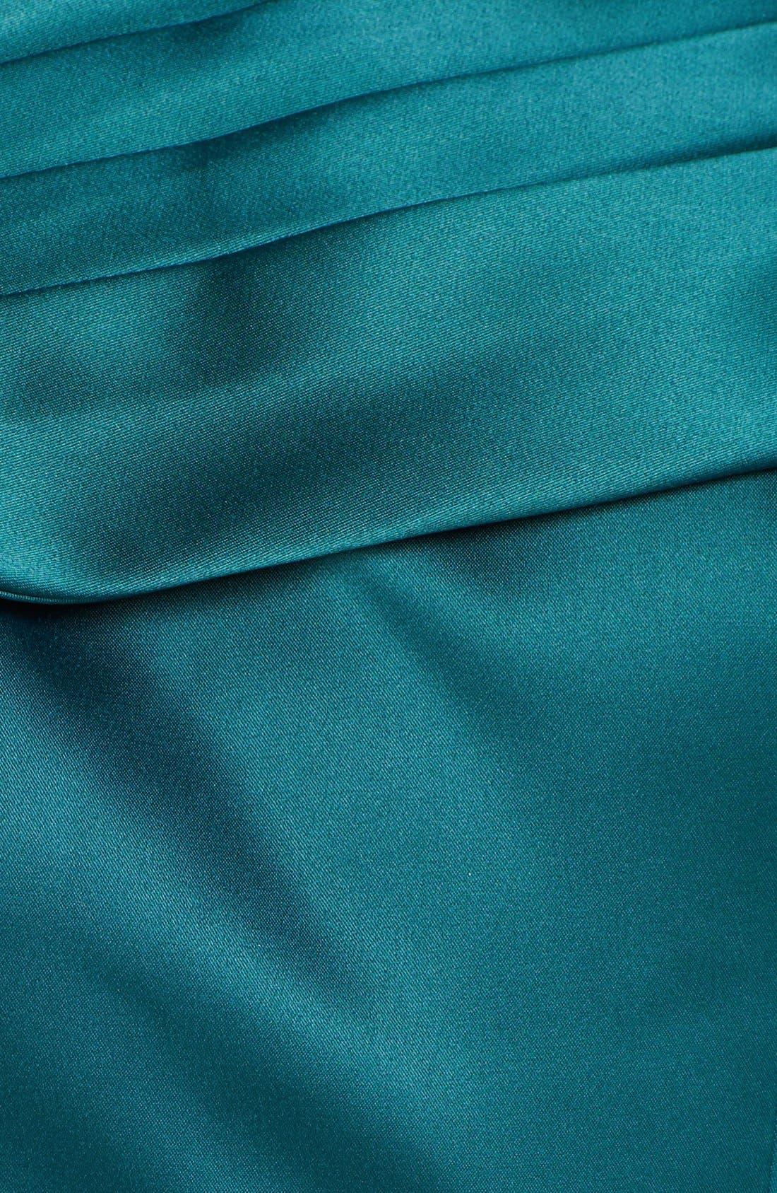 Alternate Image 3  - Adrianna Papell Portrait Collar Satin Sheath Dress