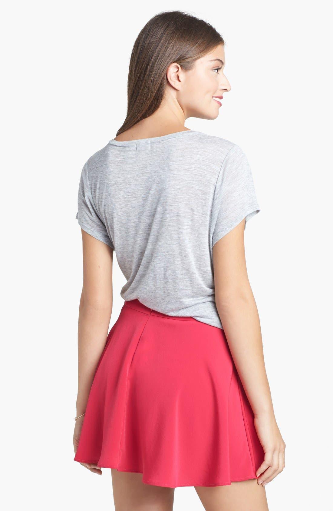 Alternate Image 2  - Lush Skater Skirt (Juniors) (Online Only)