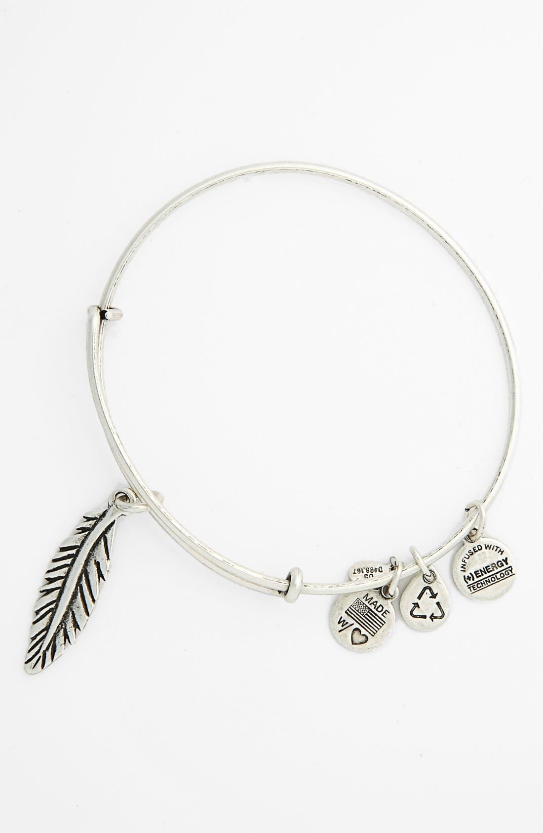 Alternate Image 2  - Alex and Ani 'Feather' Expandable Wire Bangle