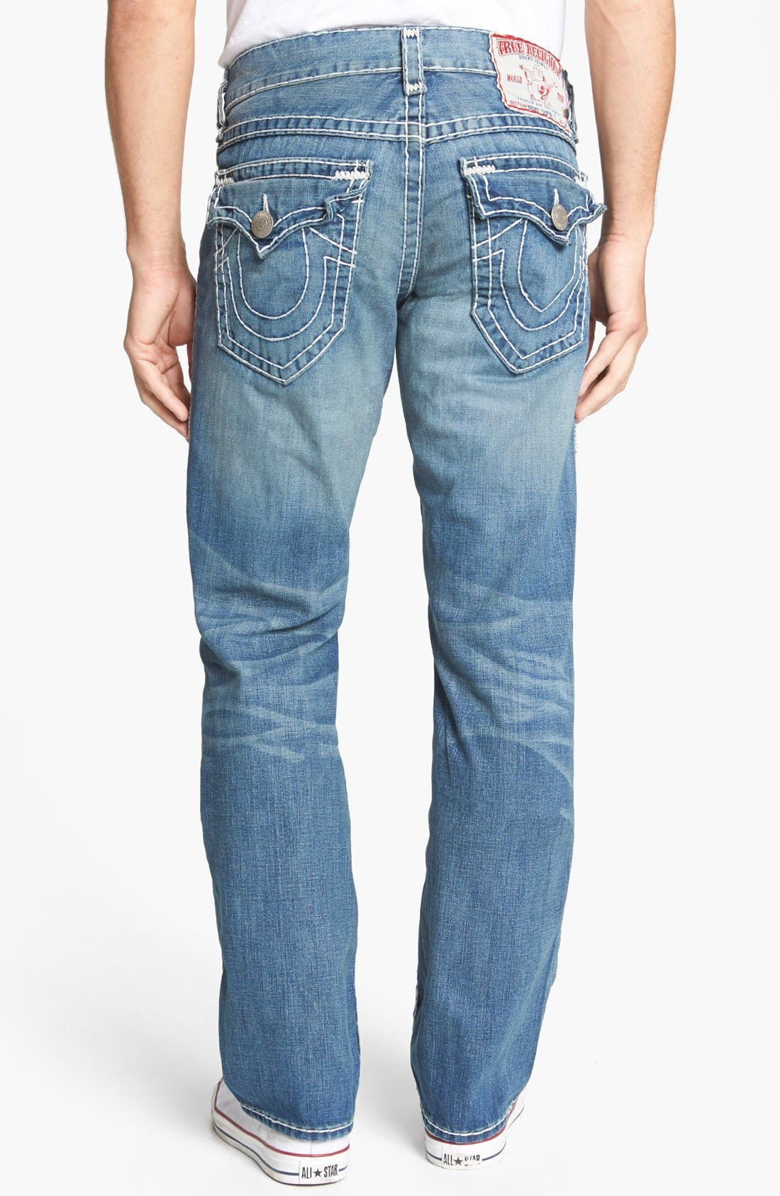 Alternate Image 1 Selected - True Religion Brand Jeans 'Ricky - Natural Super T' Straight Leg Jeans (AADM Devers Canyon)
