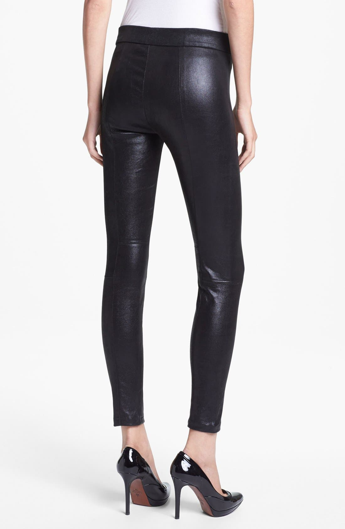 Alternate Image 2  - L'AGENCE Stretch Suede Leggings