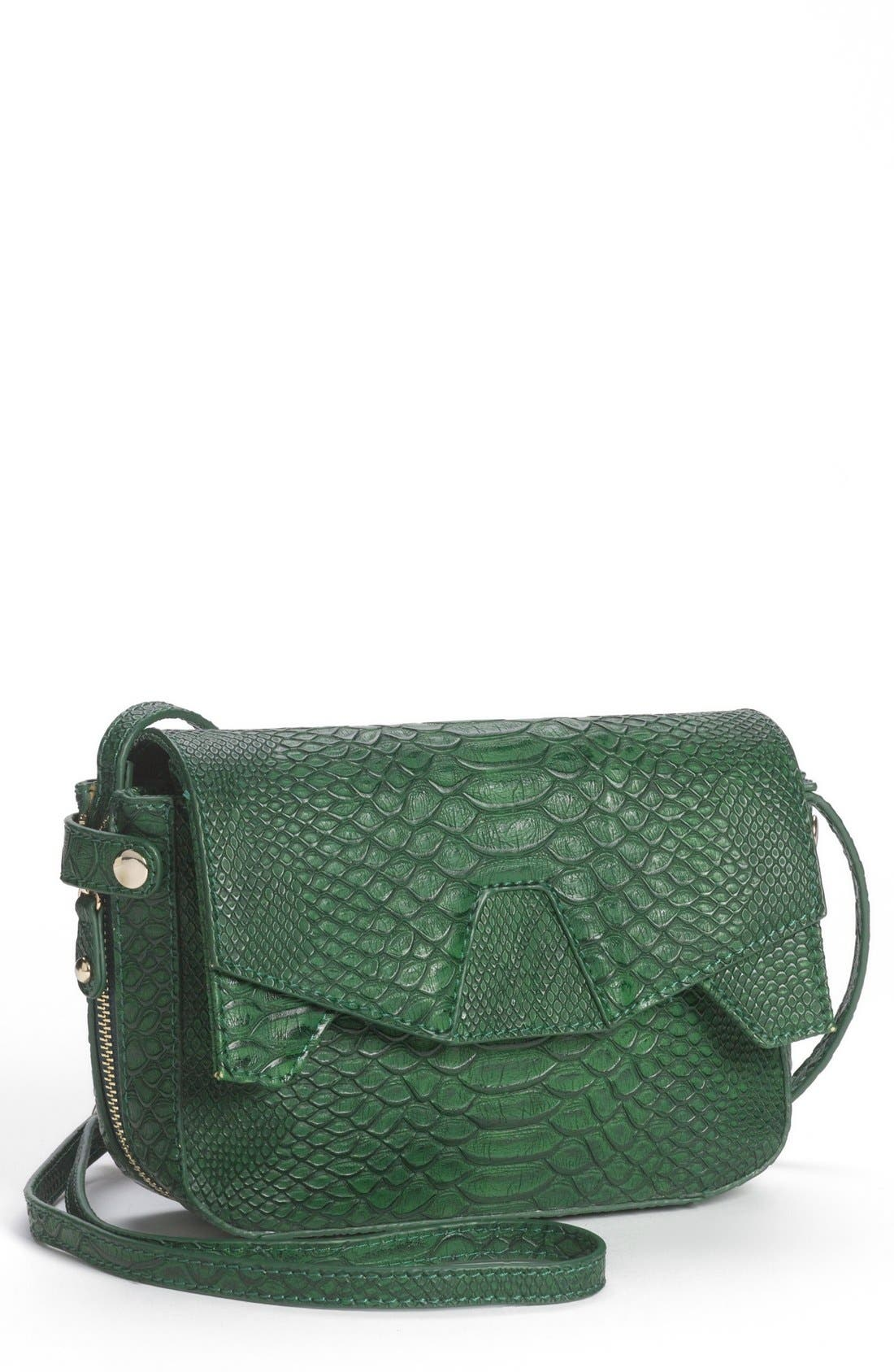 Main Image - Emperia 'Small' Embossed Faux Leather Crossbody Bag (Juniors) (Online Only)