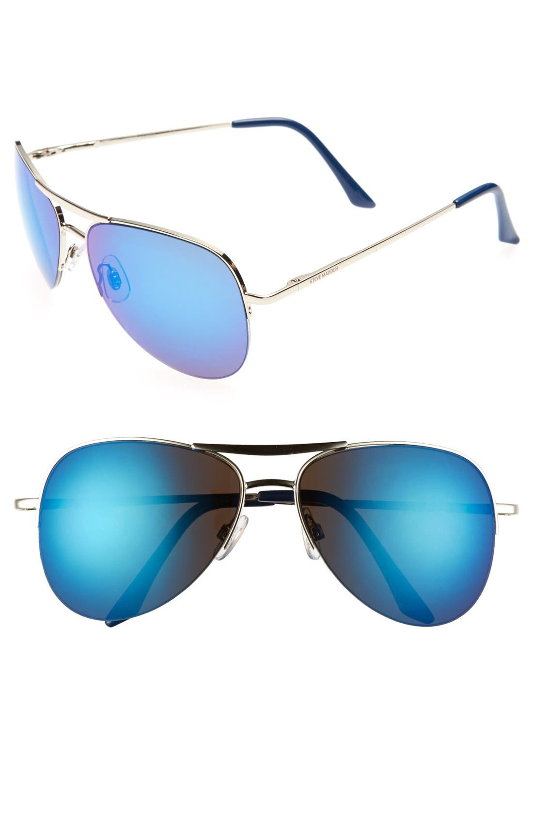 Alternate Image 1 Selected - Steve Madden 60mm Aviator Sunglasses