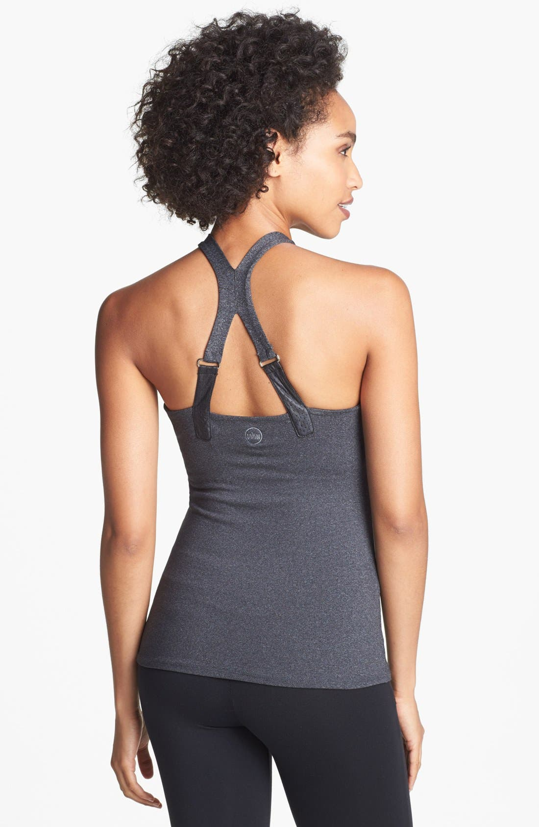 Alternate Image 2  - Solow Faux Leather Trim Camisole