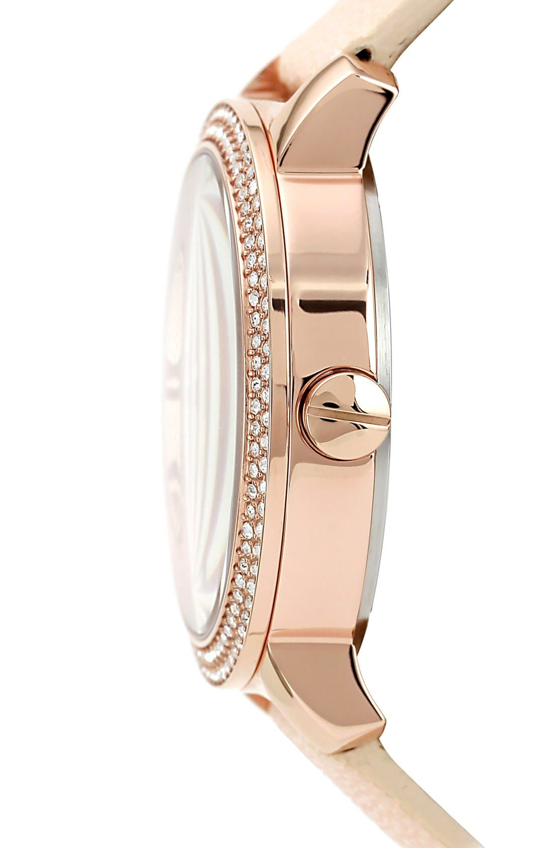Alternate Image 2  - Vince Camuto Round Multifunction Stingray Strap Watch, 42mm