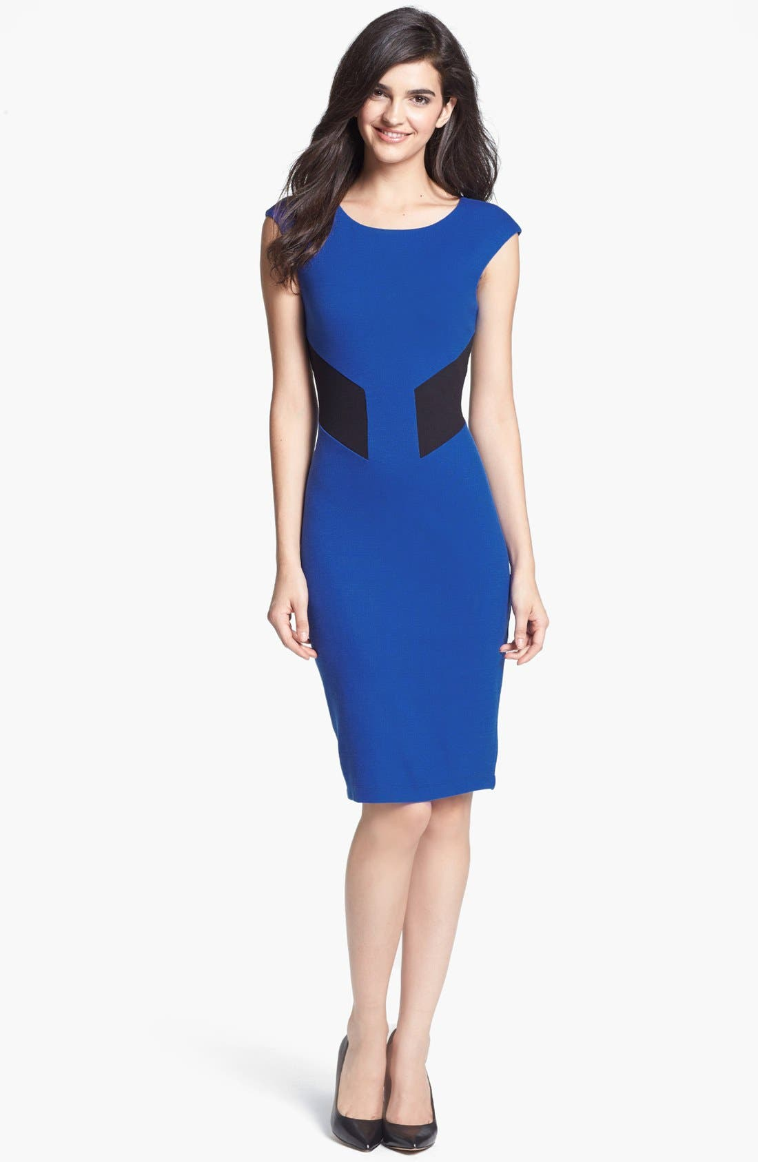 Alternate Image 1 Selected - B44 Dressed by Bailey 44 'Biotech' Back Cutout Colorblock Sheath Dress