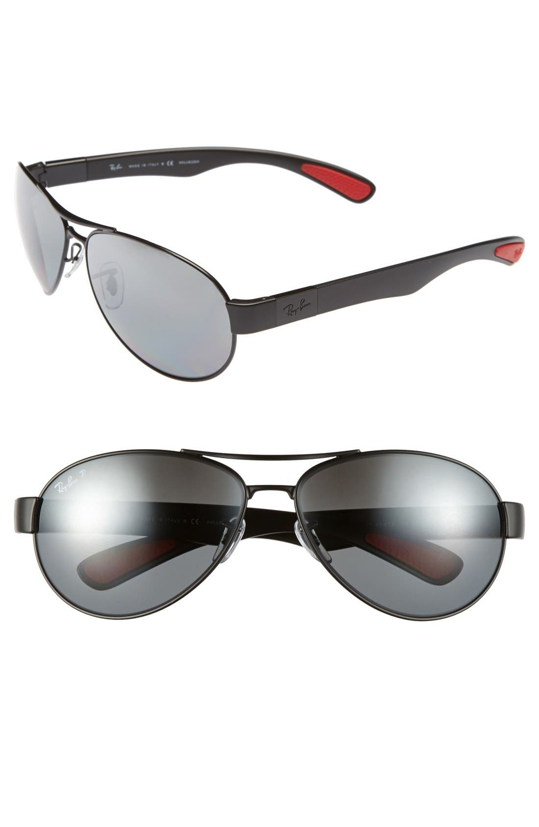 Alternate Image 1 Selected - Ray-Ban 'Pilot' Polarized Sunglasses