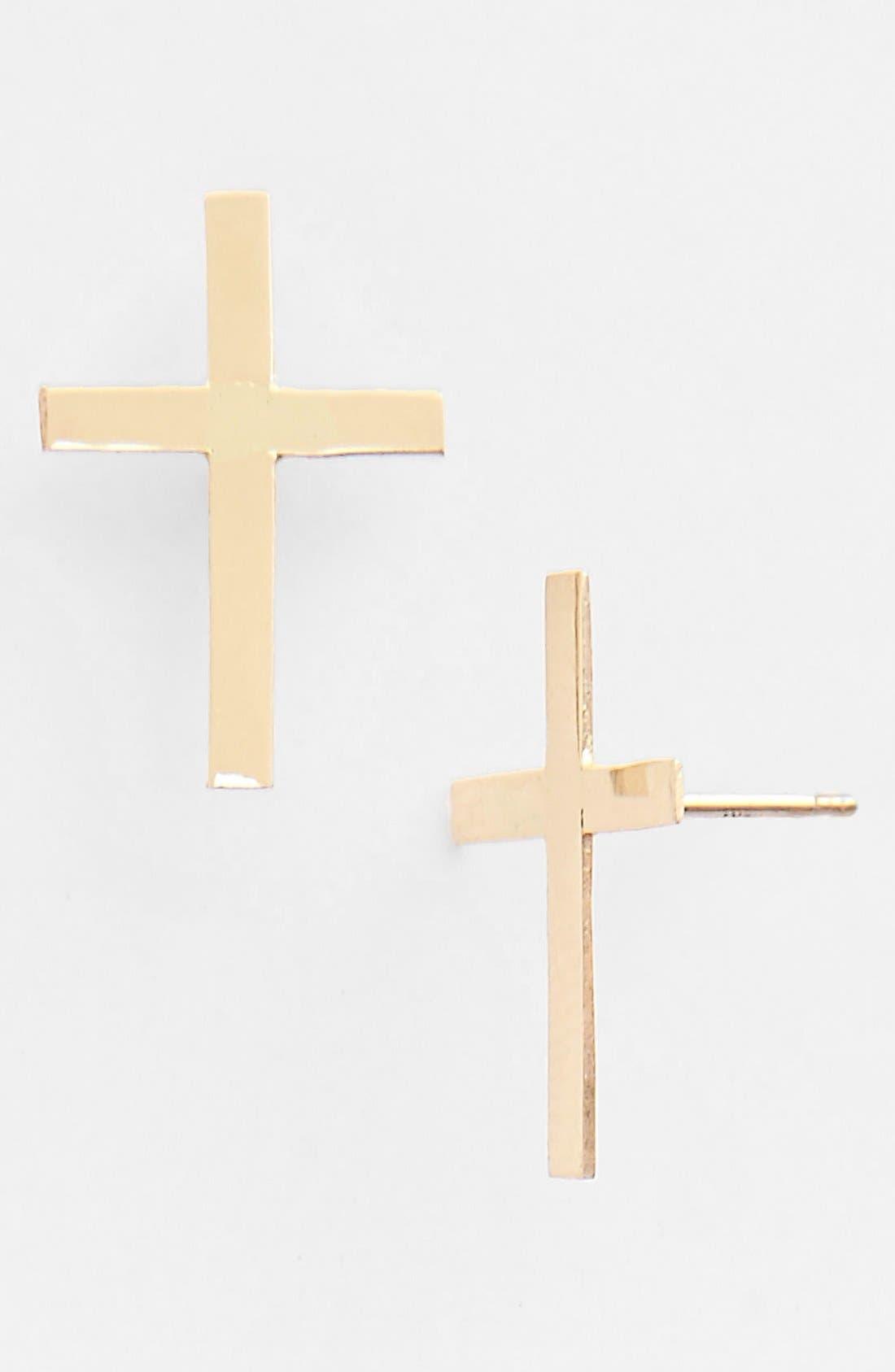 Main Image - Lana Jewelry Cross Stud Earrings