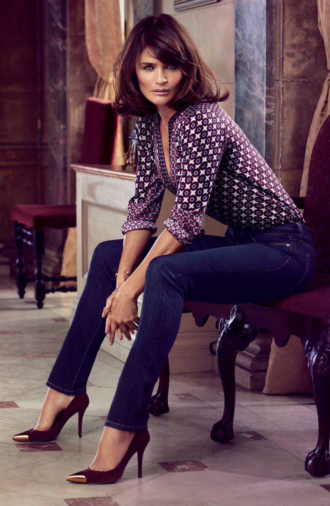 Alternate Image 4  - NYDJ 'Alina' Stretch Skinny Jeans (Larchmont) (Regular & Petite)