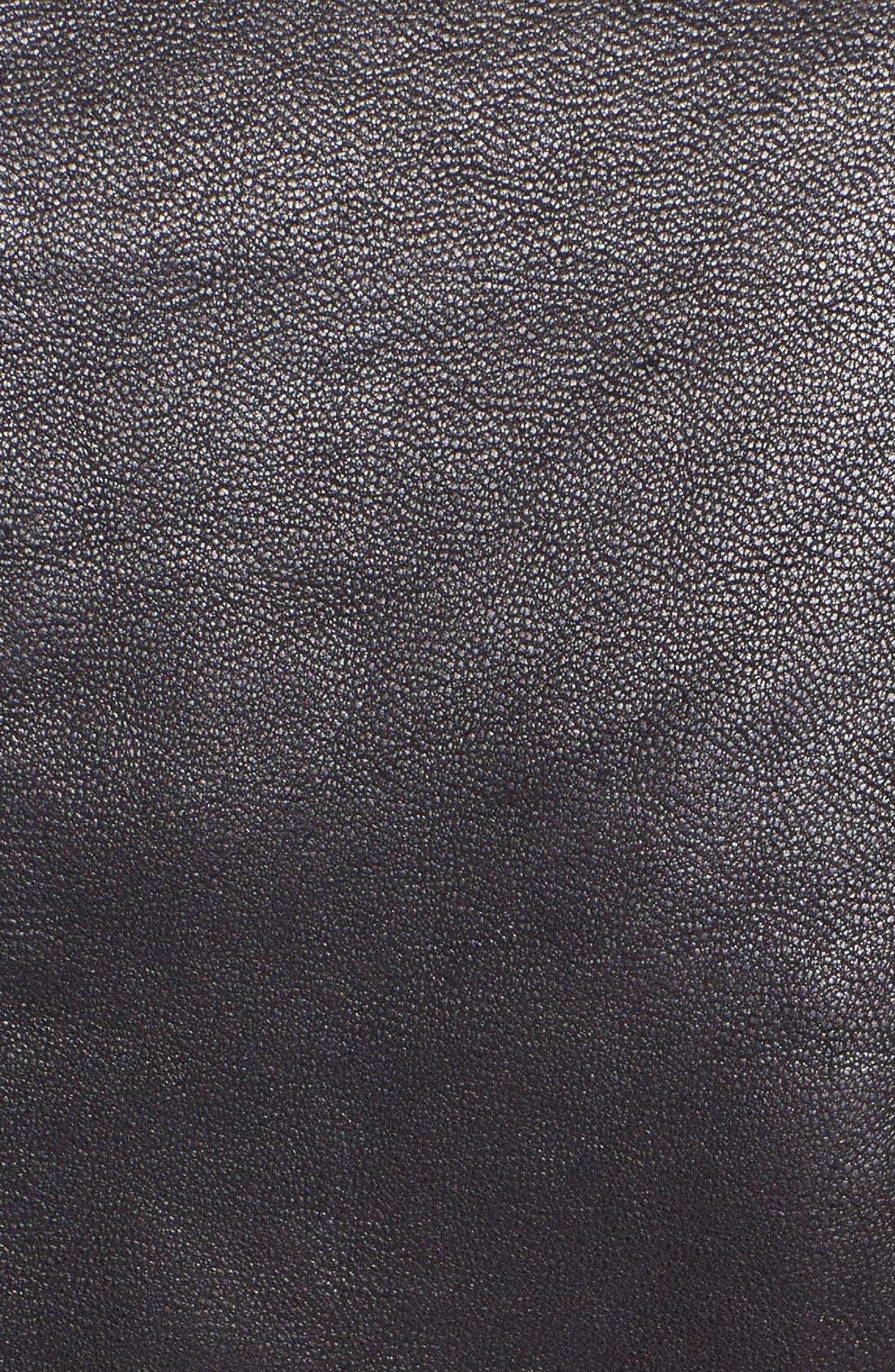 Alternate Image 3  - Sam Edelman Knit Collar Leather Jacket