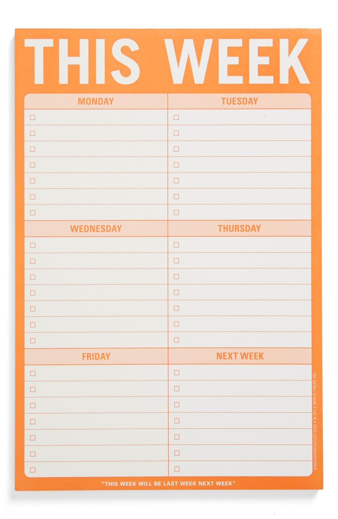 Alternate Image 1 Selected - Knock Knock 'This Week' Notepad