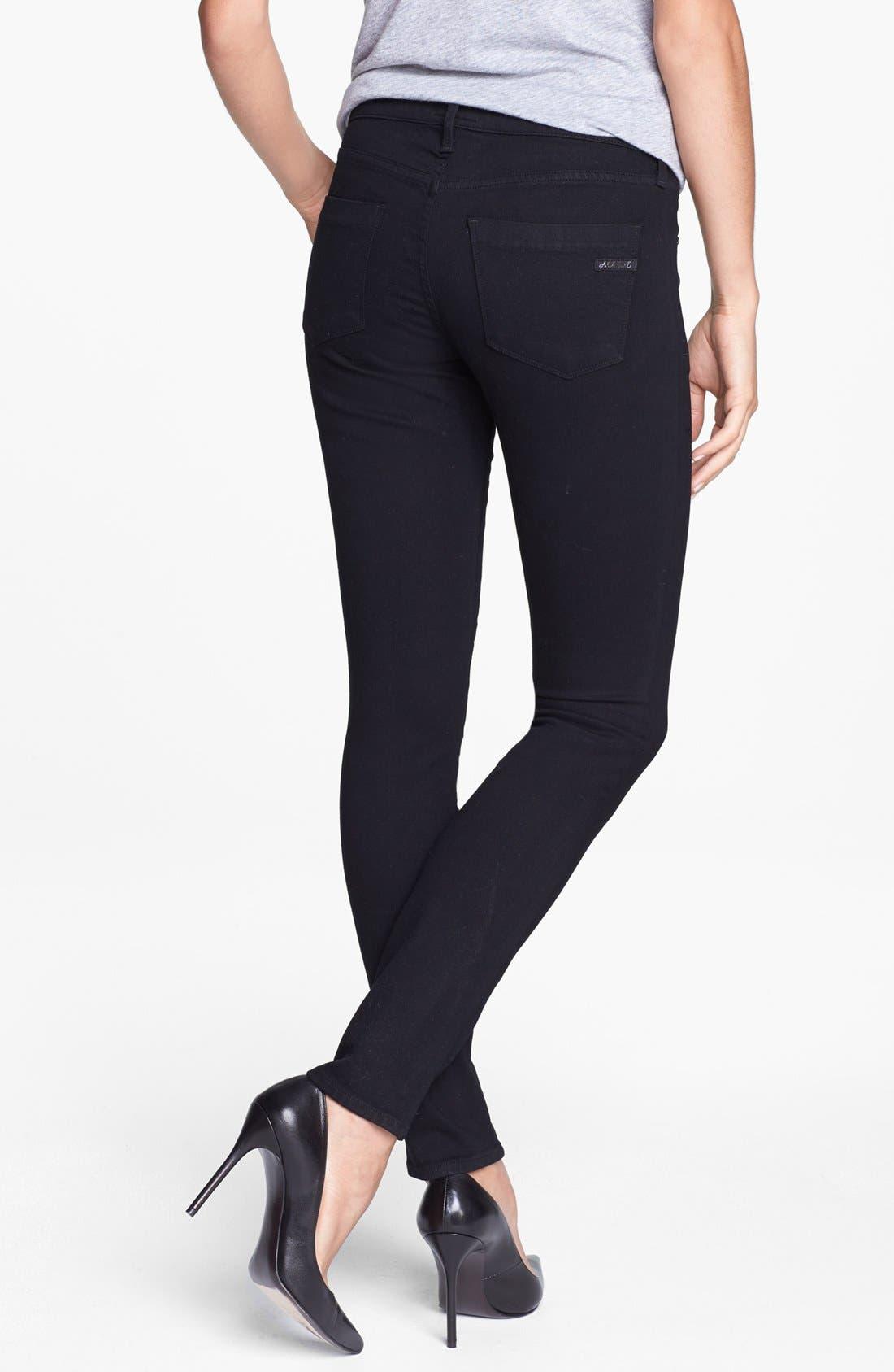 Alternate Image 2  - A Gold E 'Colette' Skinny Jeans (Dark Knights)