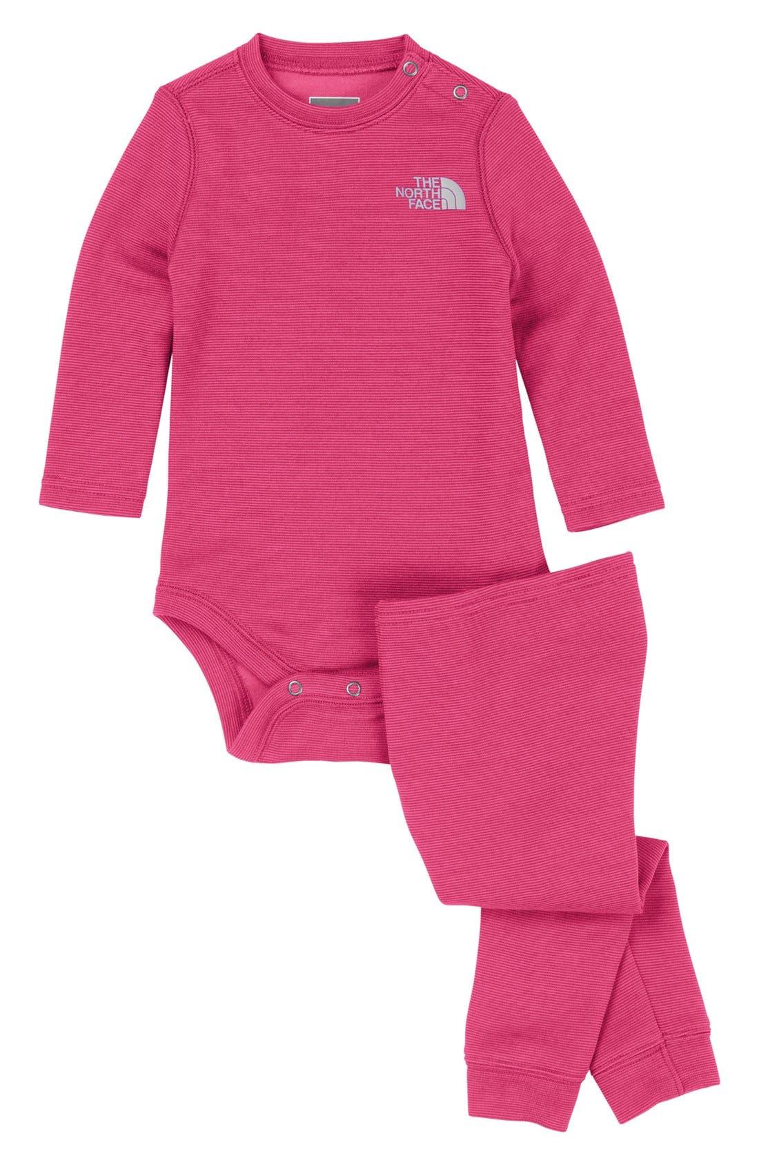 Alternate Image 1 Selected - The North Face 'Base Layer' Bodysuit & Leggings (Baby Girls)