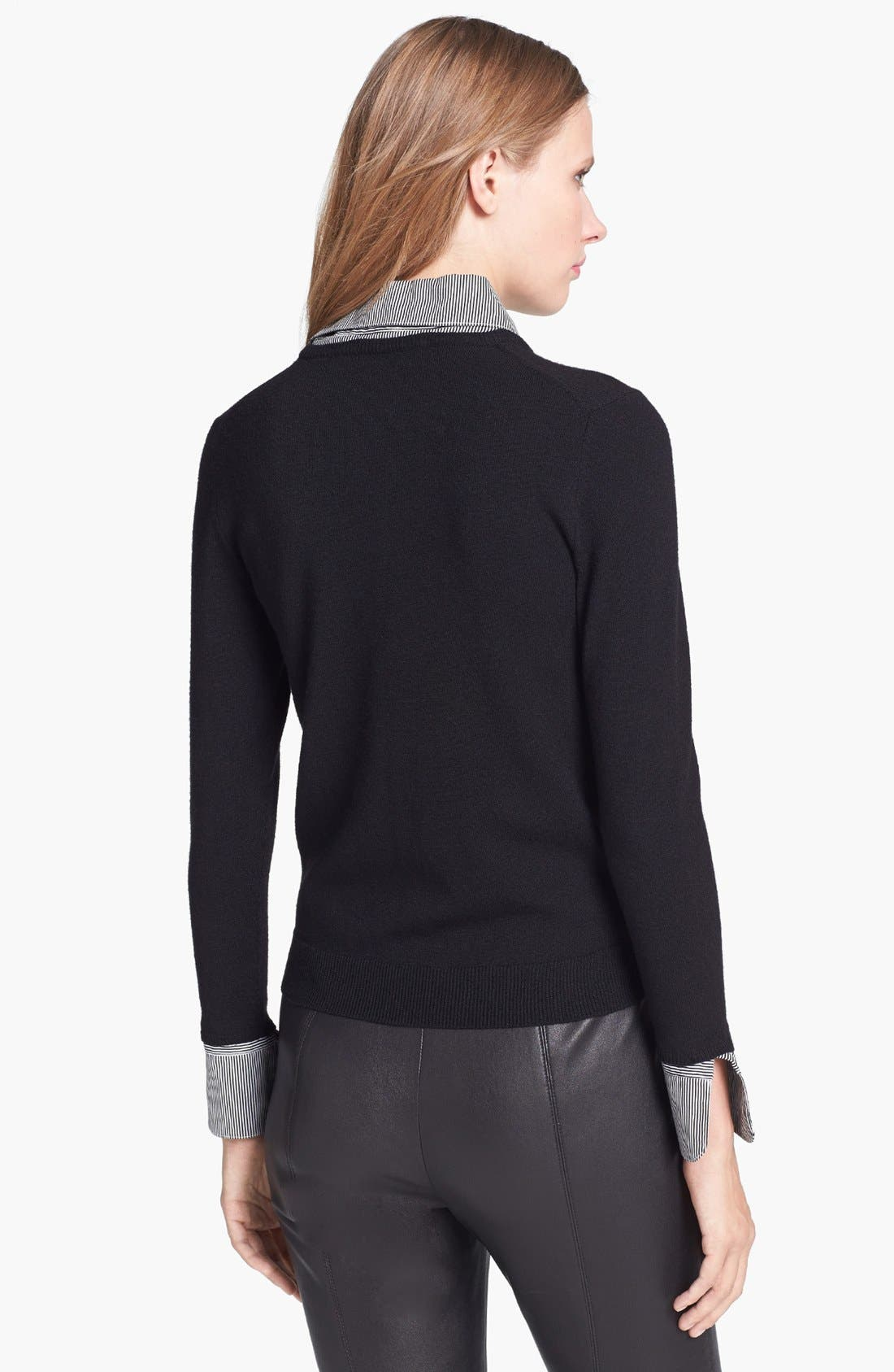 Alternate Image 2  - Alice + Olivia 'Wiley' Contrast Trim Sweater