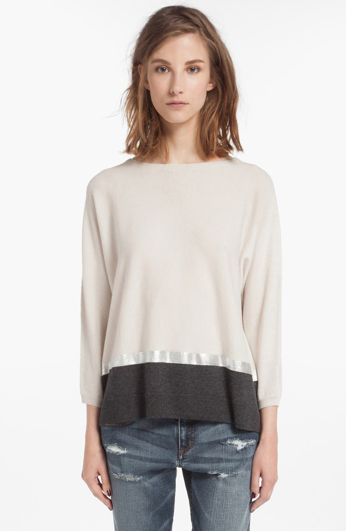 Alternate Image 1 Selected - maje 'Dolsen' Wool Blend Sweater