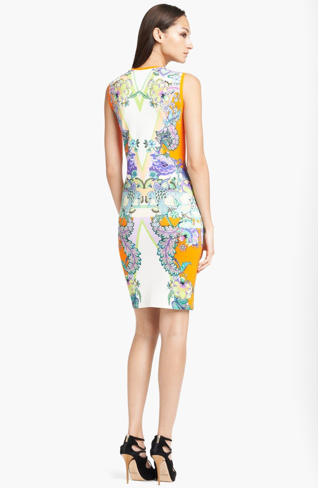 Alternate Image 2  - Roberto Cavalli 'Padma Print' Punto Milano Dress