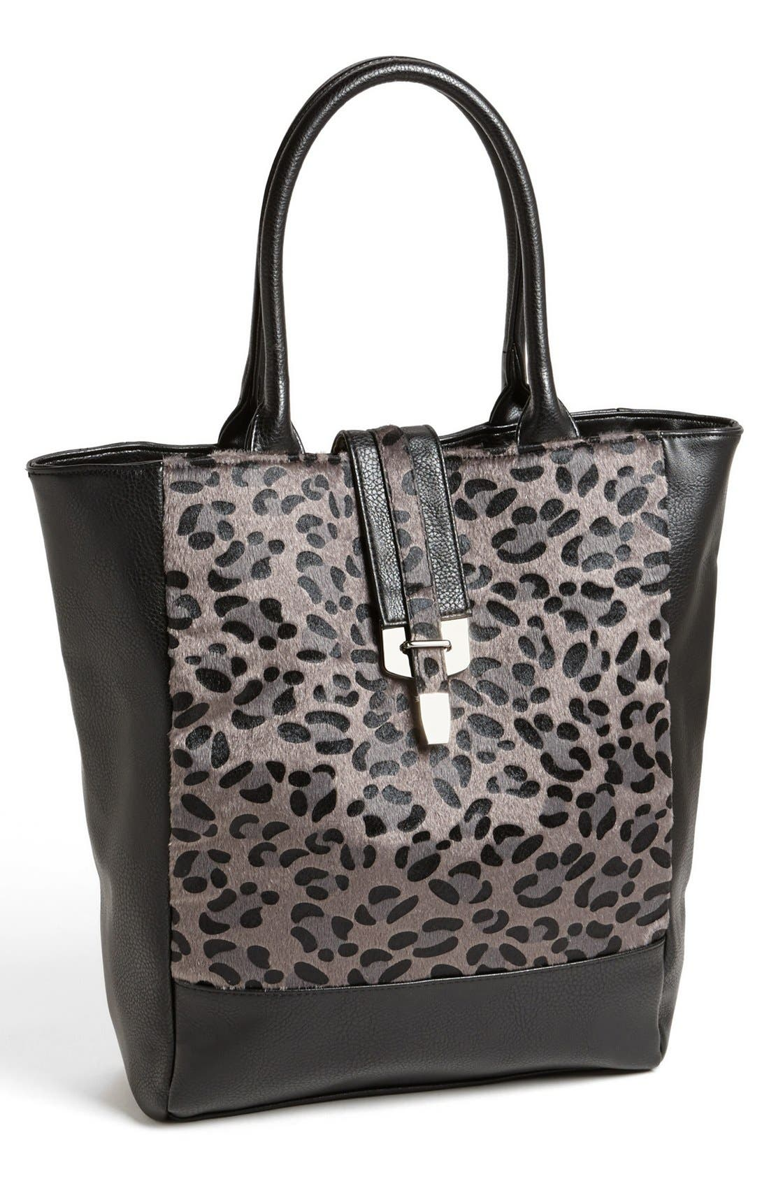Alternate Image 1 Selected - LP Blue 'Alexis' Leopard Print Tote