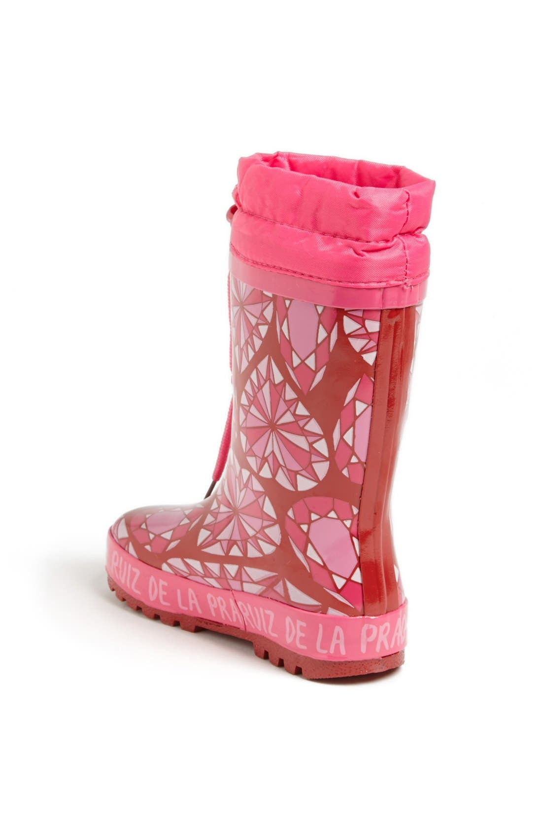 Alternate Image 2  - Agatha Ruiz de la Prada 'Diamond' Rain Boot (Toddler, Little Kid & Big Kid)