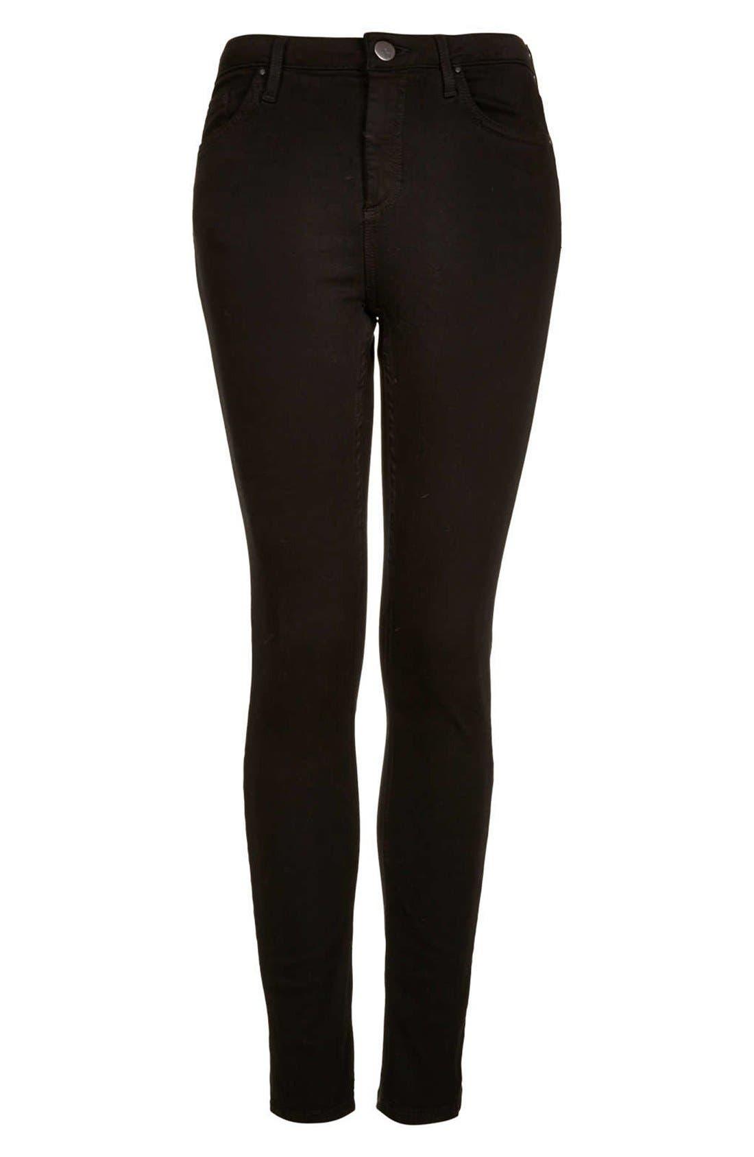 Alternate Image 4  - Topshop Moto 'Jamie' High Rise Skinny Jeans (Regular, Short & Long)