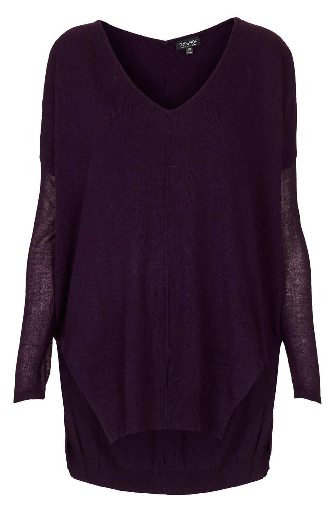 Alternate Image 3  - Topshop Lightweight V-Neck Sweater