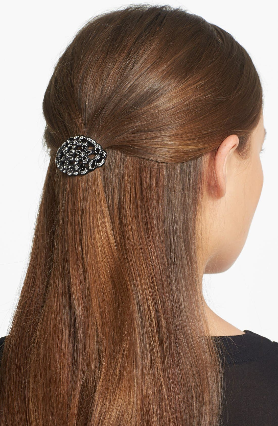 Main Image - France Luxe 'Crystal Floral Oasis' Hair Clip