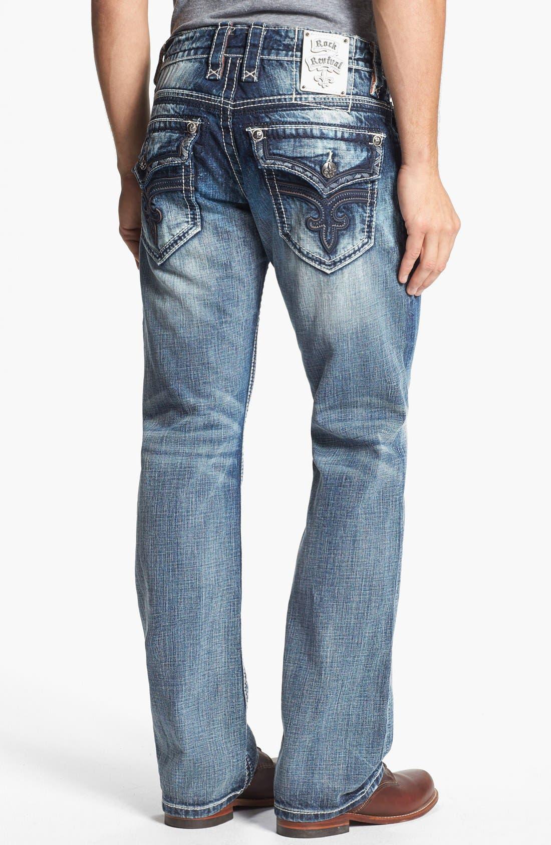 Alternate Image 1 Selected - Rock Revival 'Carter' Straight Leg Jeans (Light Blue)
