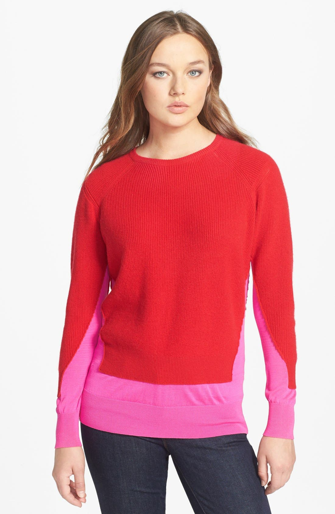 Alternate Image 1 Selected - MARC BY MARC JACOBS 'Bella' Crewneck Cashmere & Silk Sweater