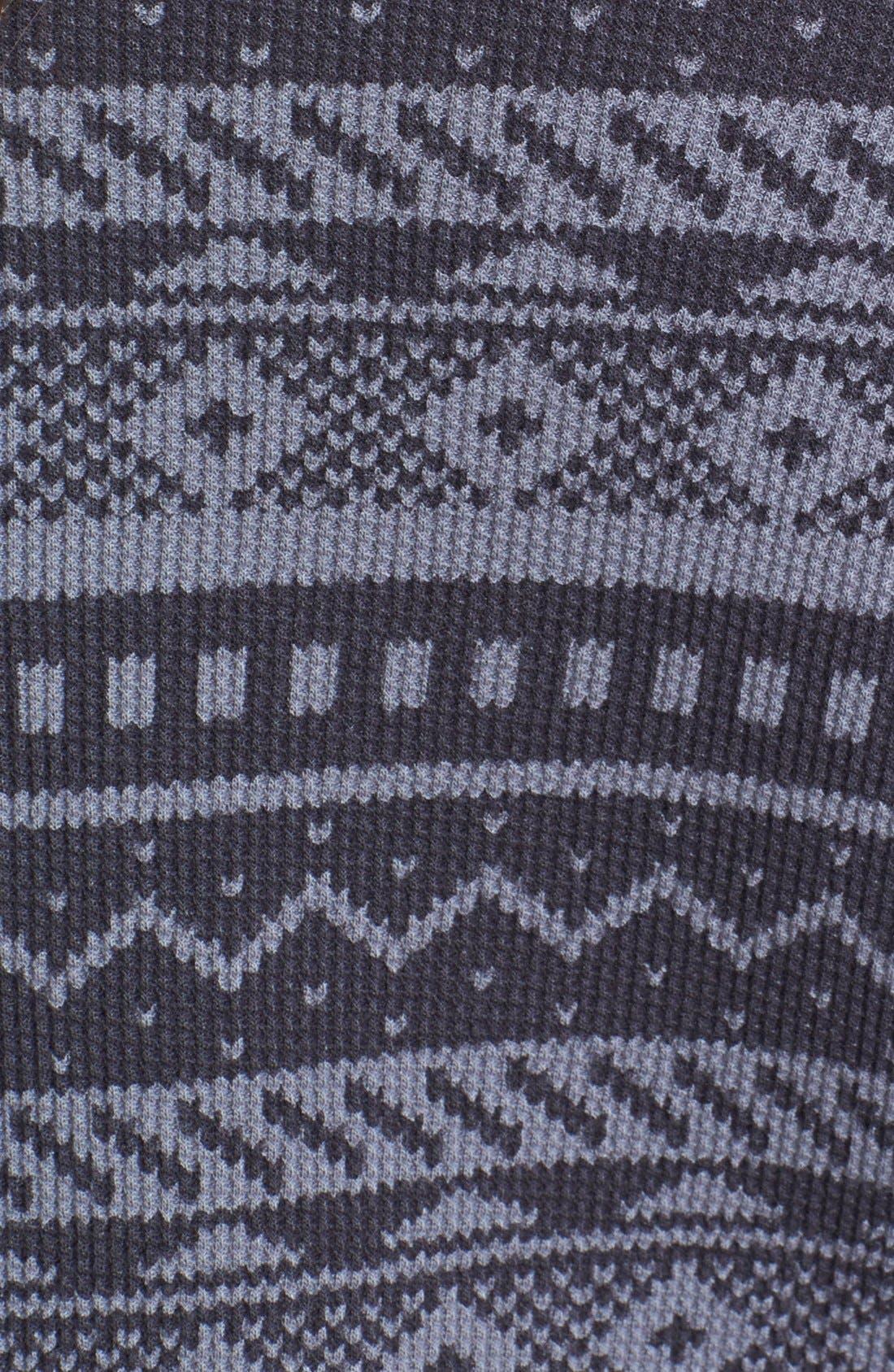 Alternate Image 3  - Splendid Fair Isle Thermal Sweatshirt