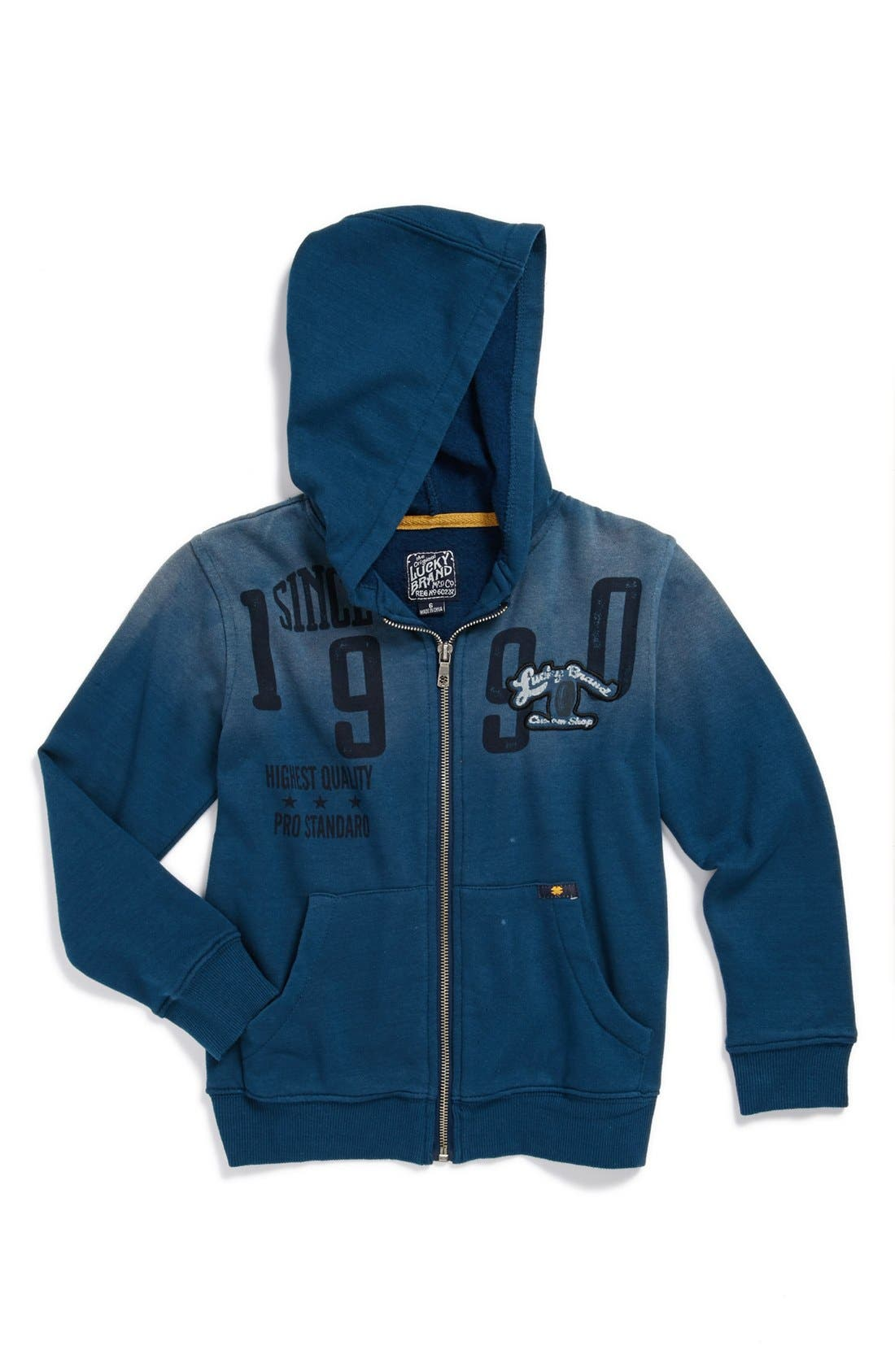 Main Image - Lucky Brand 'Exeter' Hoodie (Little Boys)