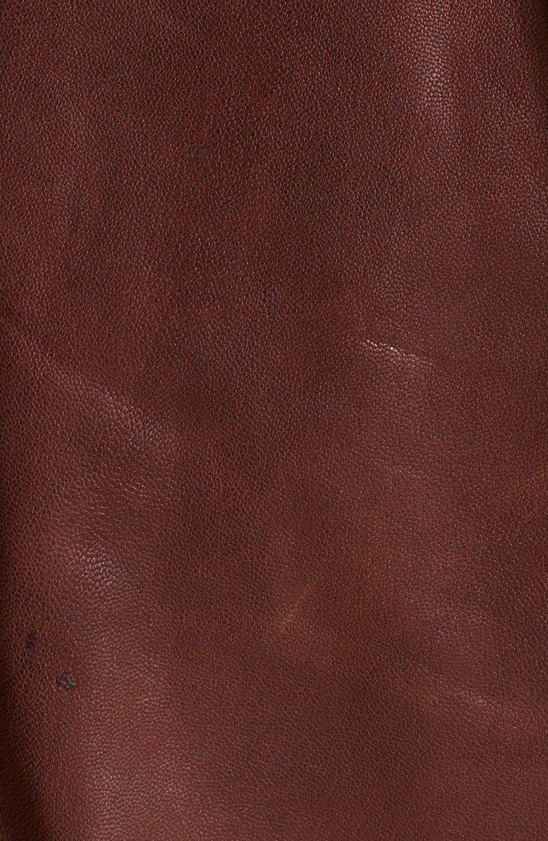 Alternate Image 3  - Topman Vintage Leather Jacket