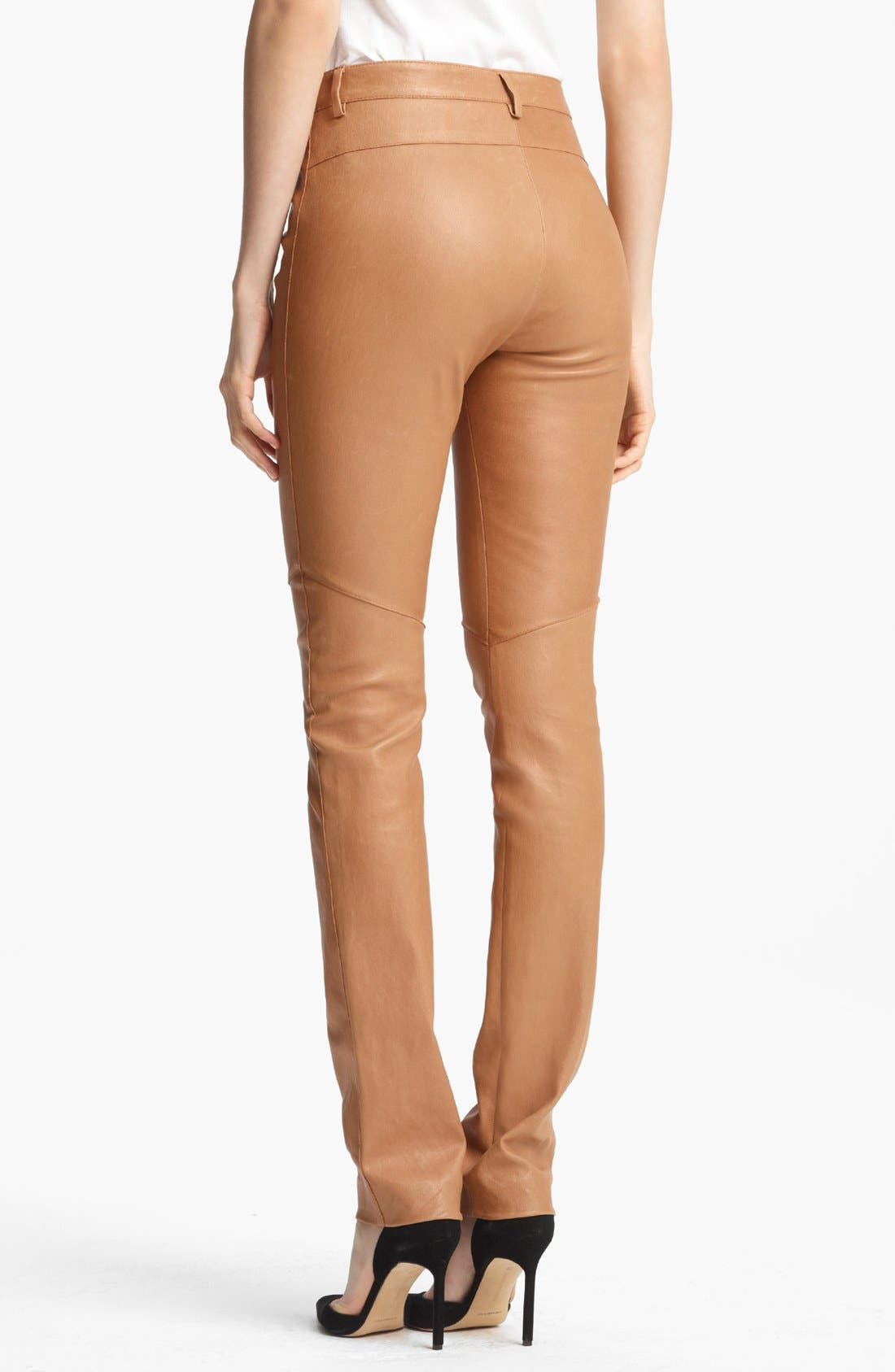 Alternate Image 2  - ESCADA 'Laylah' Stretch Leather Leggings