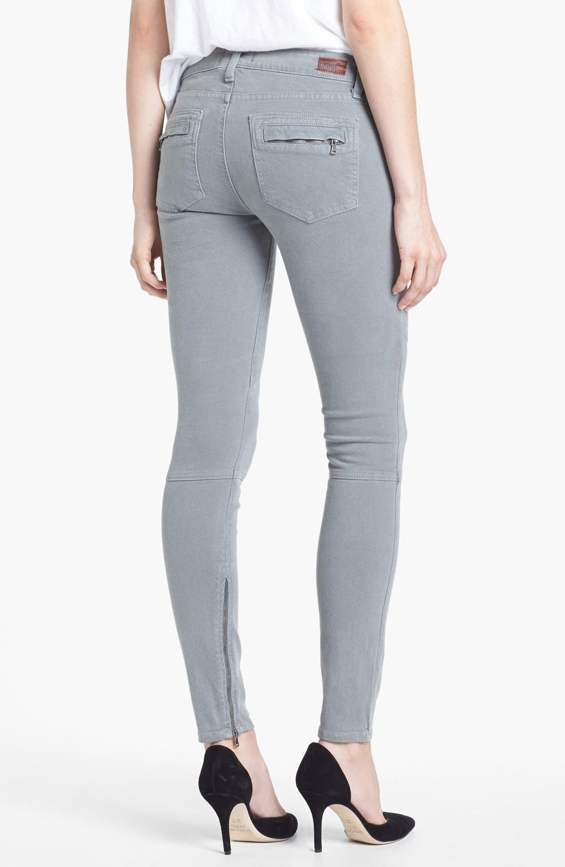 Alternate Image 2  - Paige Denim 'Marley' Zip Detail Skinny Jeans (Cloud Cover)