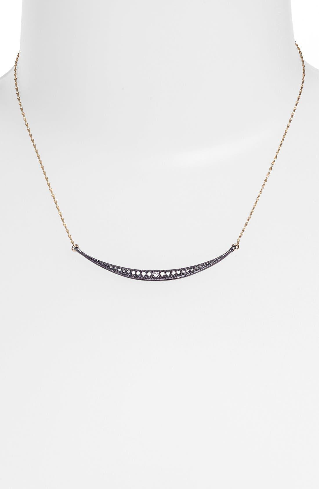 Main Image - Mizuki 'Icicles' Diamond Crescent Pendant Necklace