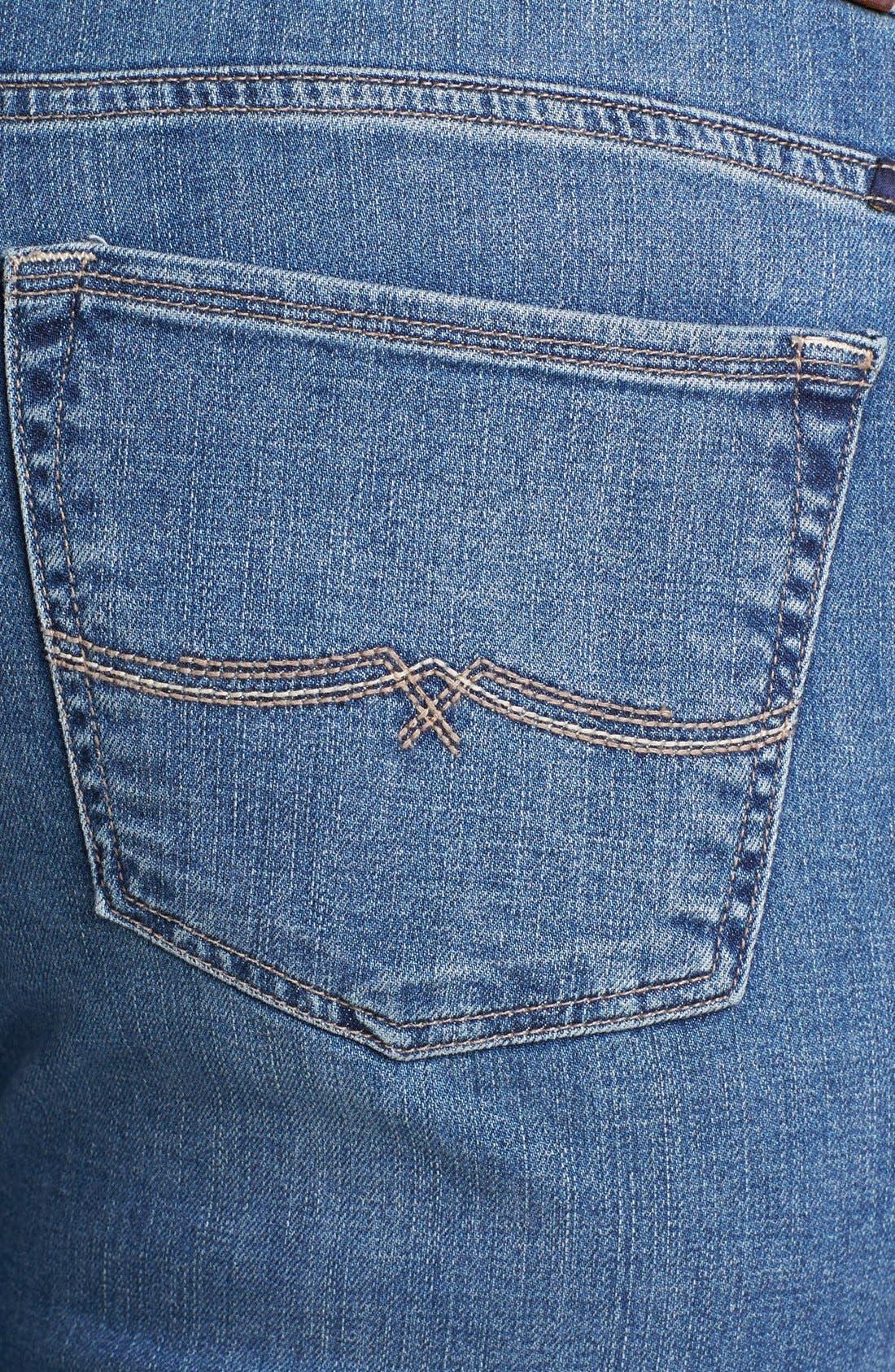 Alternate Image 3  - Lucky Brand 'Ginger' Straight Leg Jeans (Plus Size)