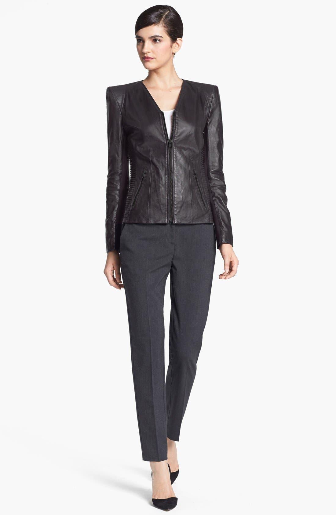 Main Image - Trouvé Power Shoulder Leather Jacket