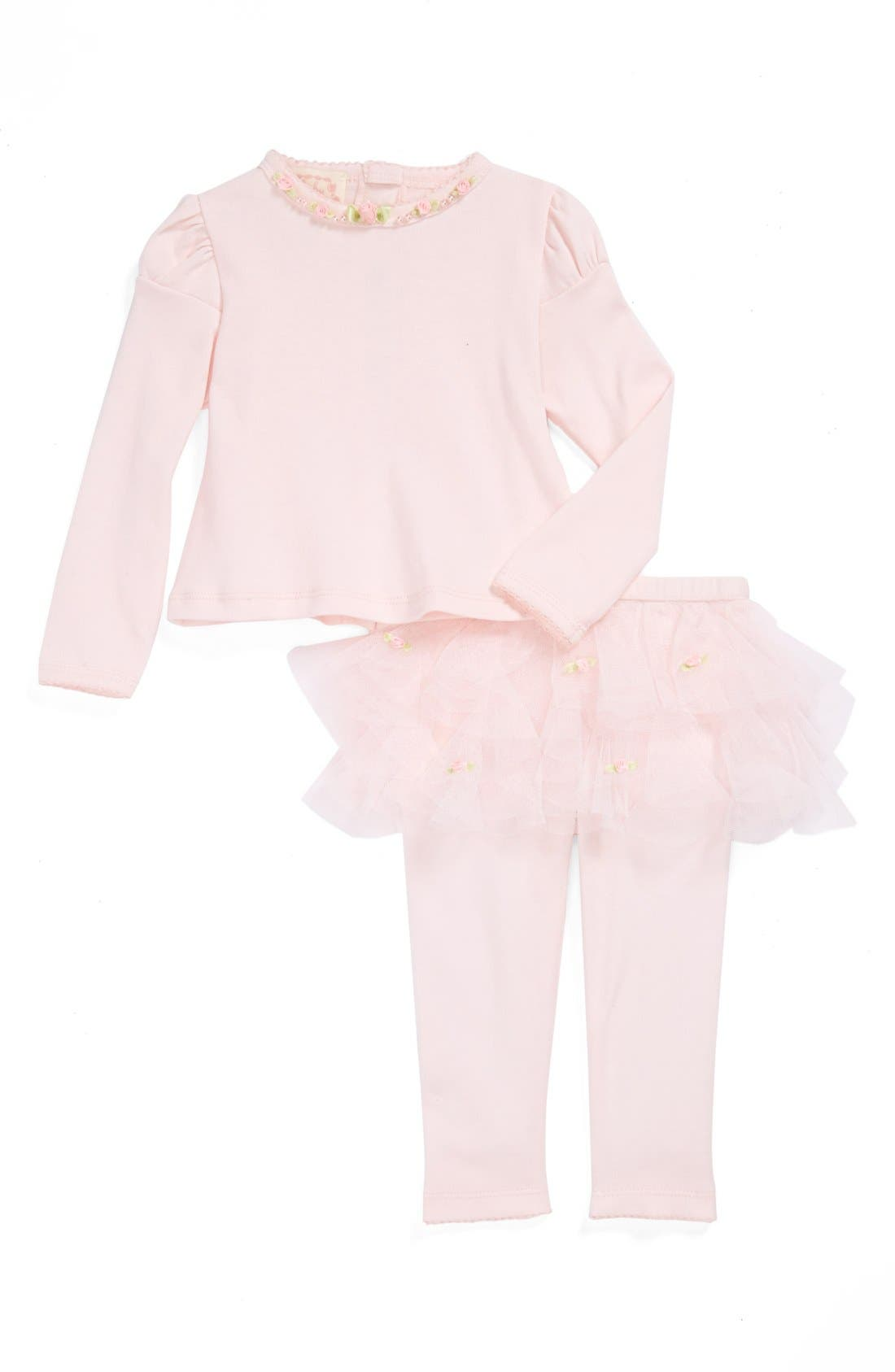 Main Image - Biscotti Top and Pants (Baby Girls)