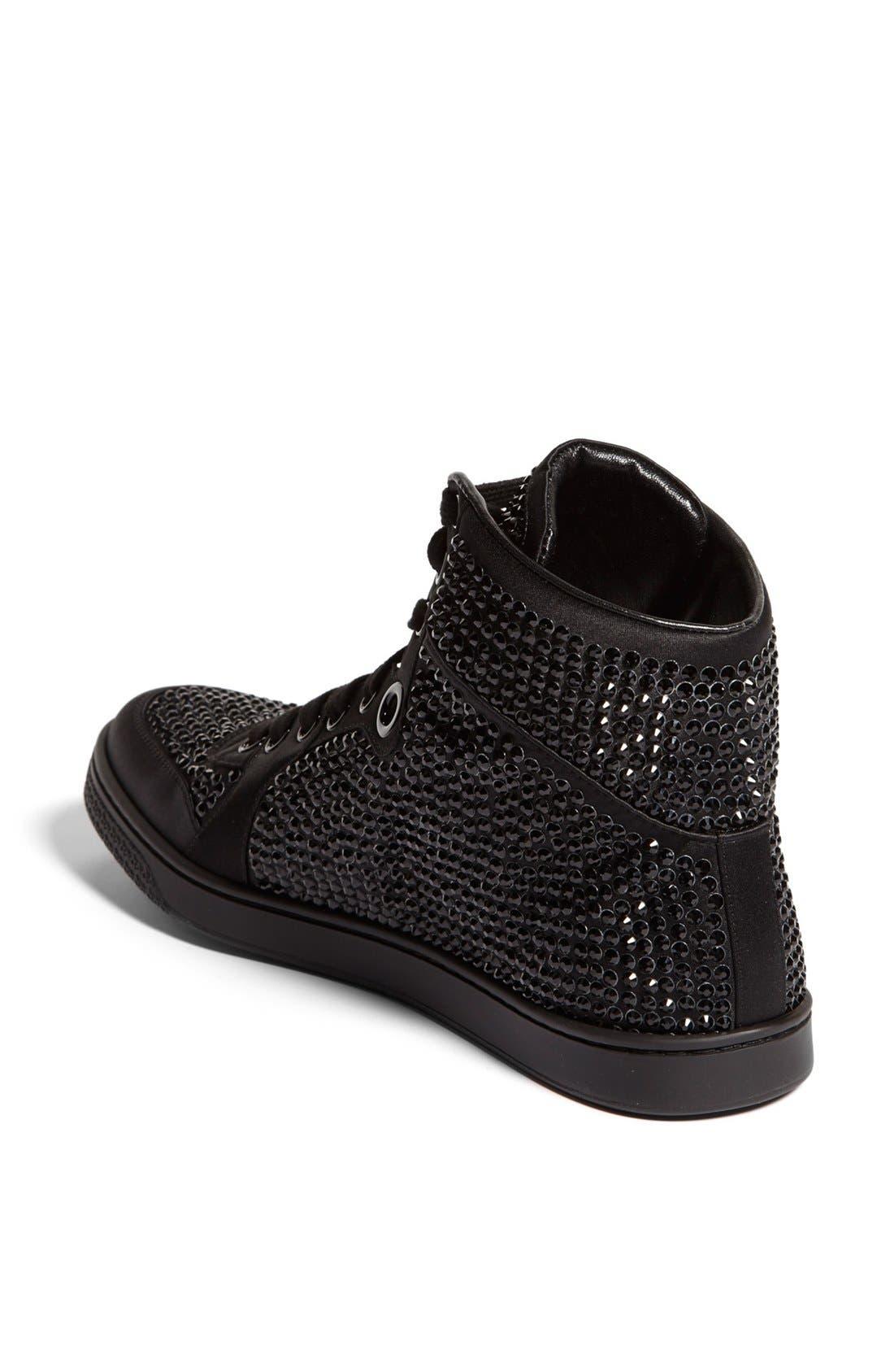 Alternate Image 2  - Gucci 'Coda' Crystal Stud High Top Sneaker