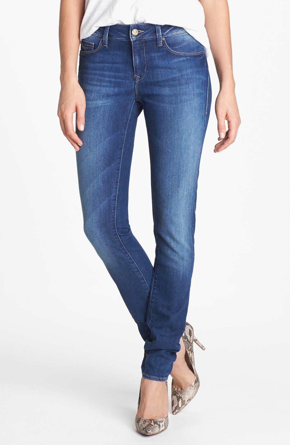Main Image - Mavi Jeans 'Alexa' Mid Rise Skinny Jeans (Mid Indigo Nolita)