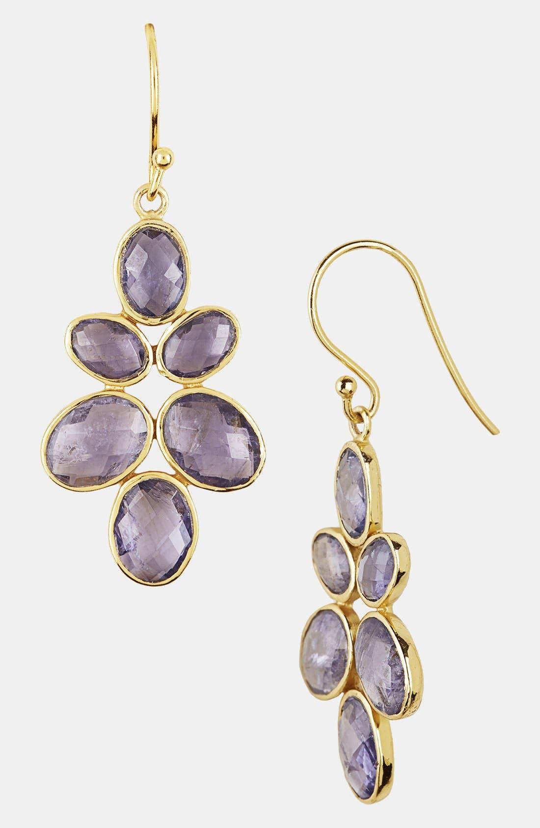 Alternate Image 1 Selected - Argento Vivo Cluster Drop Earrings